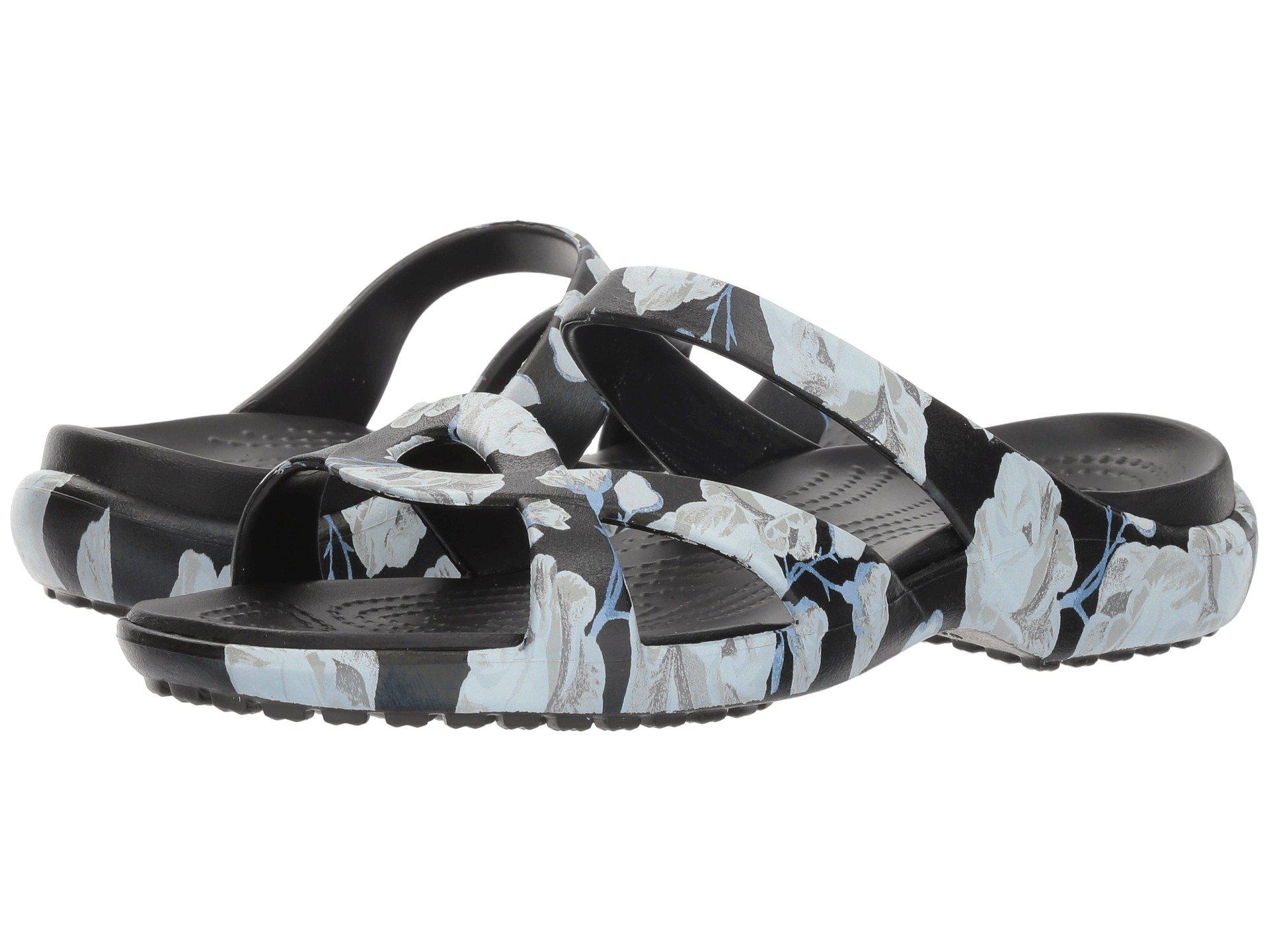 8d707a243 Lyst - Crocs™ Meleen Twist Graphic Sandal in Black - Save 31%