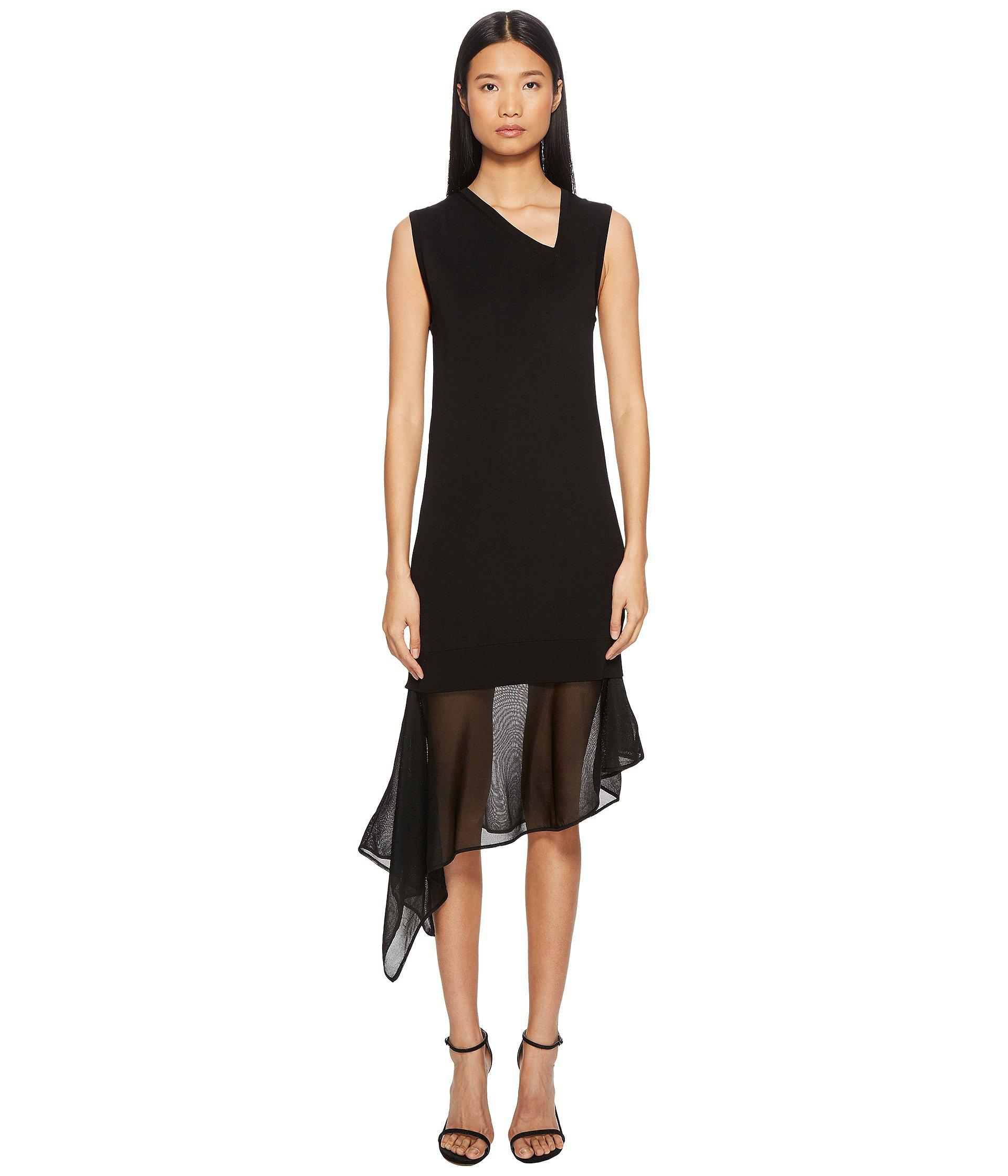 f2ea6cf5a3b Lyst - Neil Barrett Techno Knit Asymmetric Dress in Black - Save 55%