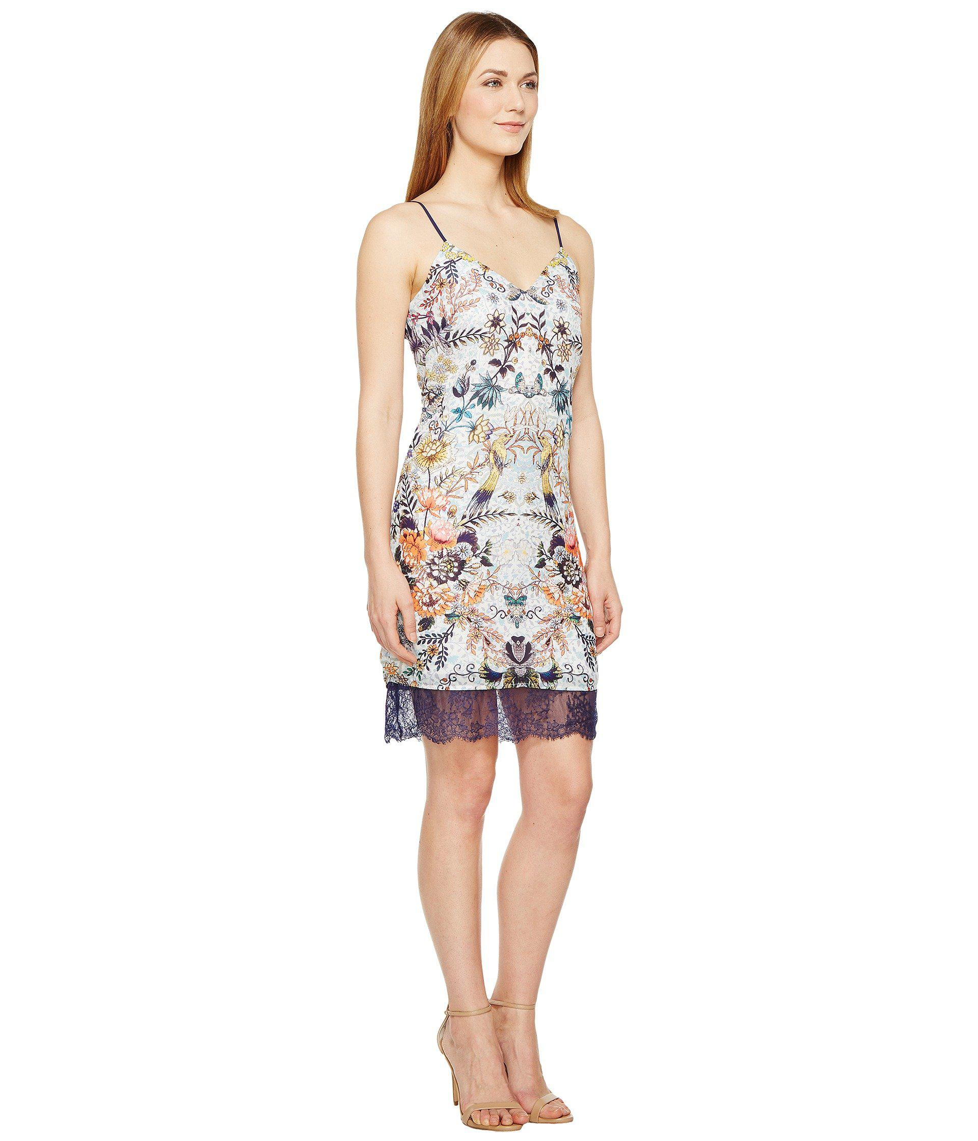 d767364c2a Adelyn Rae - White Lydia Woven Printed Slip Dress - Lyst. View fullscreen