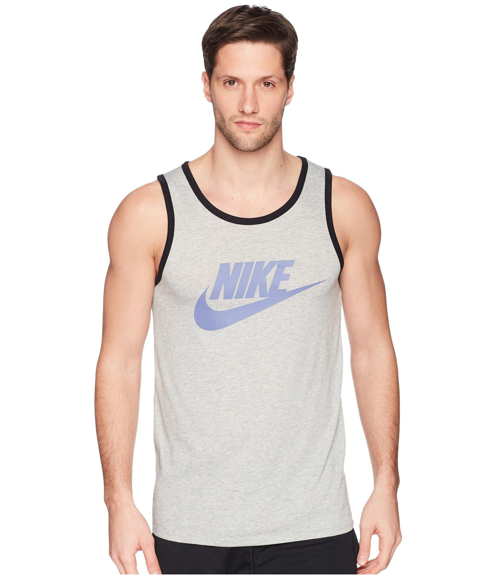 bf94c283d5586 Lyst - Nike Ace Logo Tank Top in Gray for Men - Save 20%