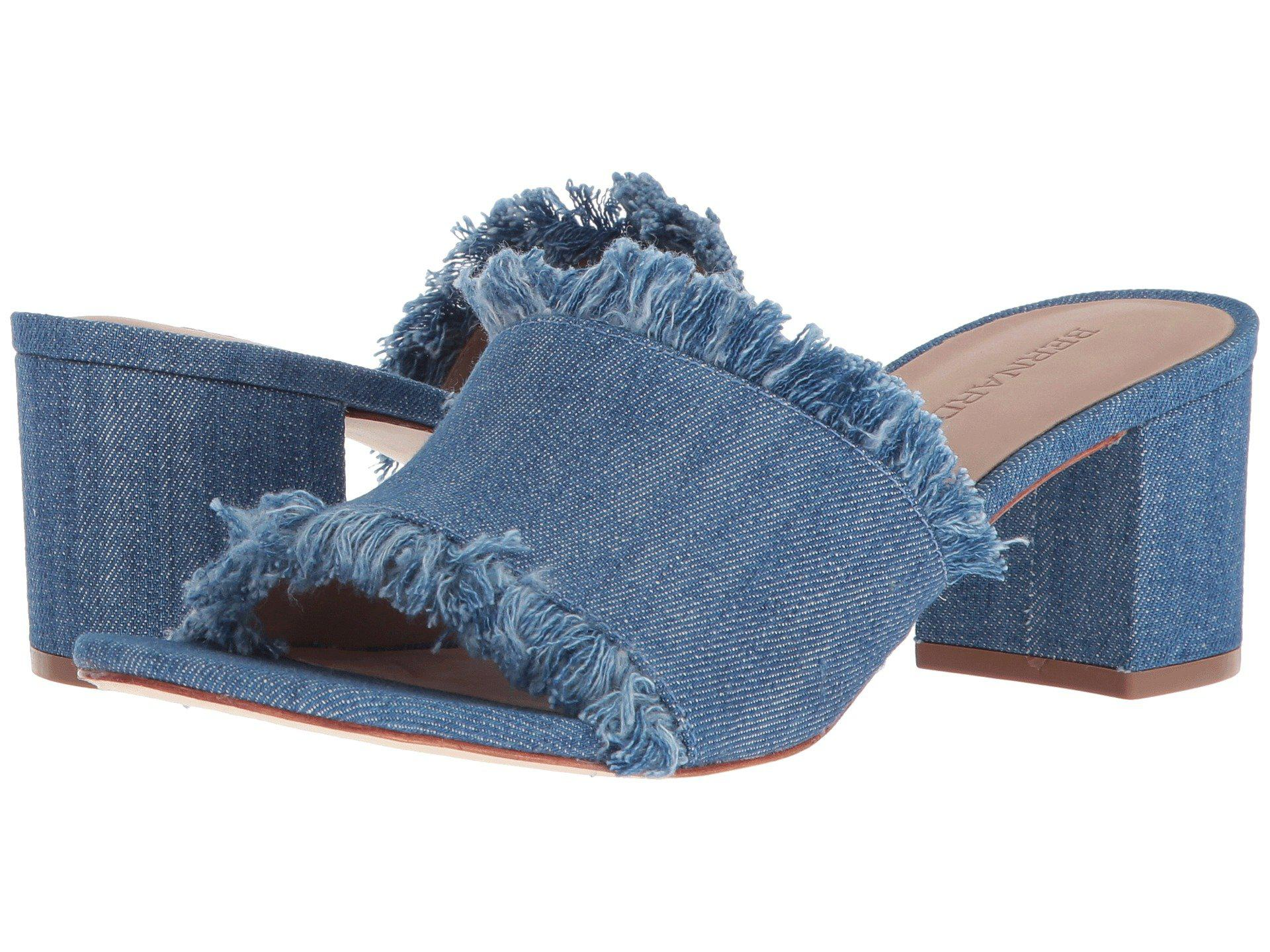 605953dbe2c1 Lyst - Bernardo Blaire Heeled Sandal in Blue - Save 55%