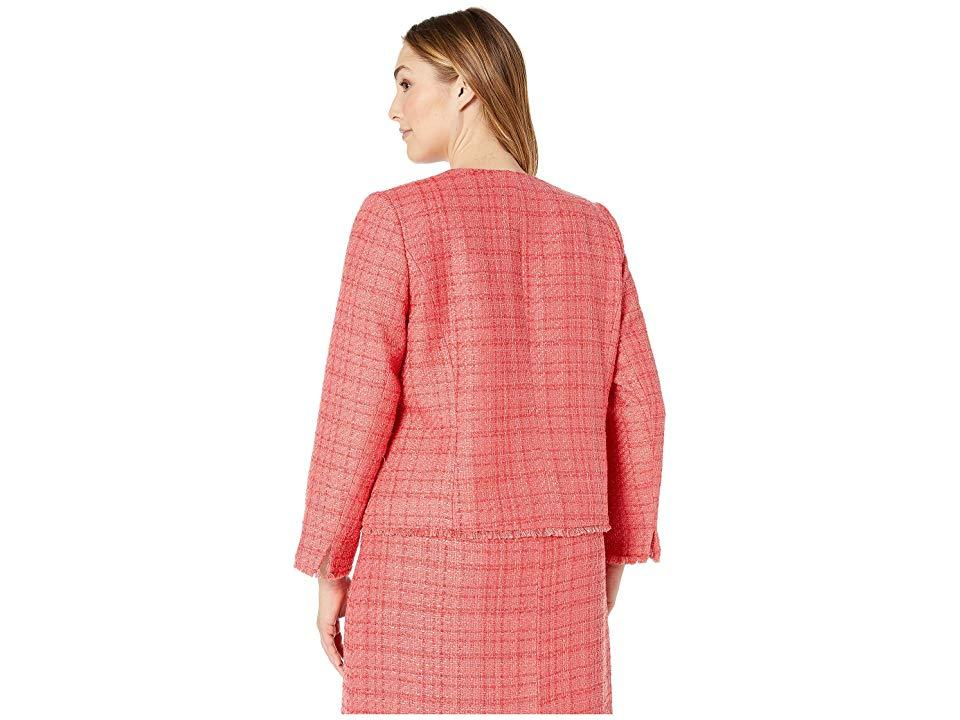 04ae8c383ab8 Tahari - Pink Plus Size Boucle Skirt Suit With Gold Finish Trim (coral)  Suits. View fullscreen