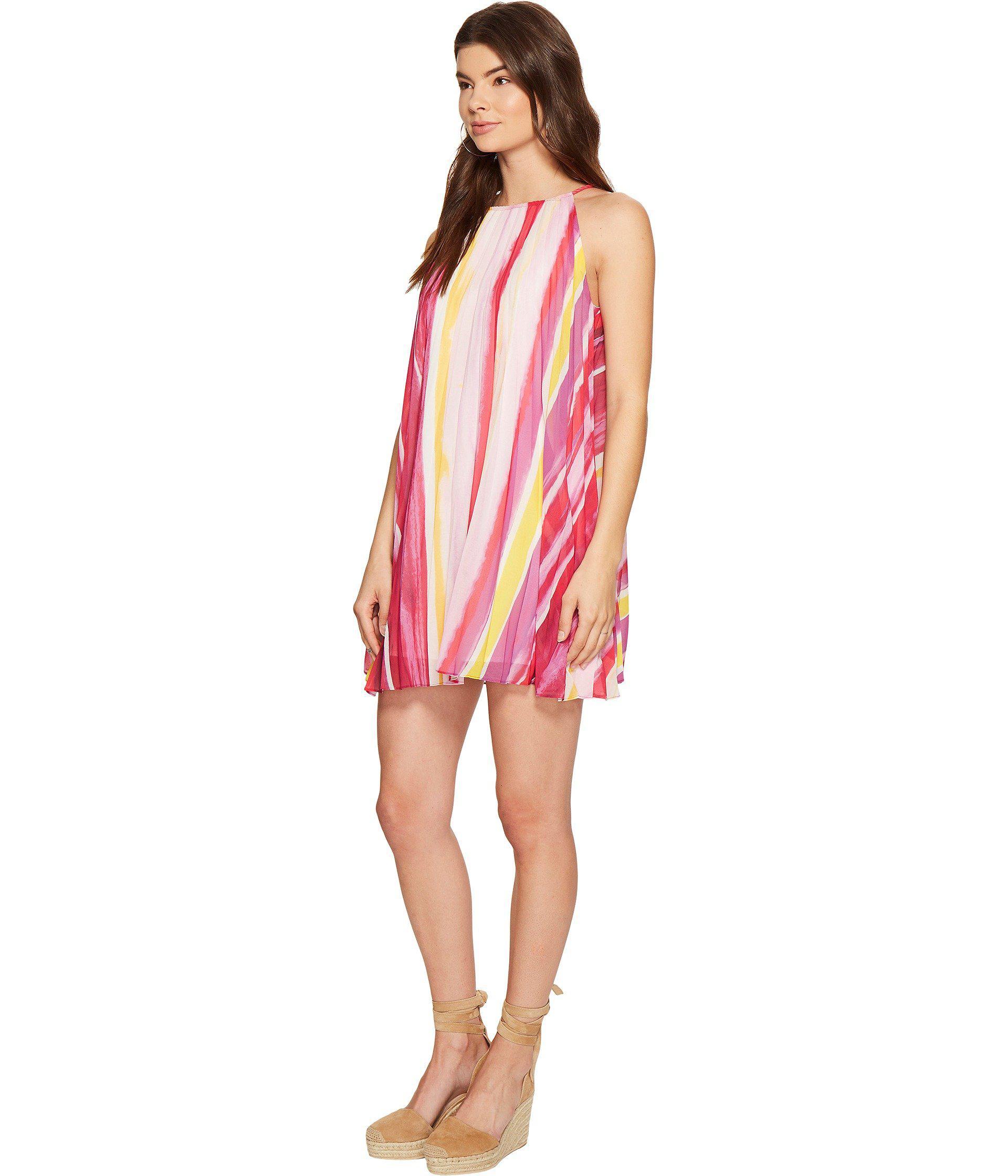 36cf9224226a6 Lyst - BB Dakota Summerlyn Pleated Dress in Pink