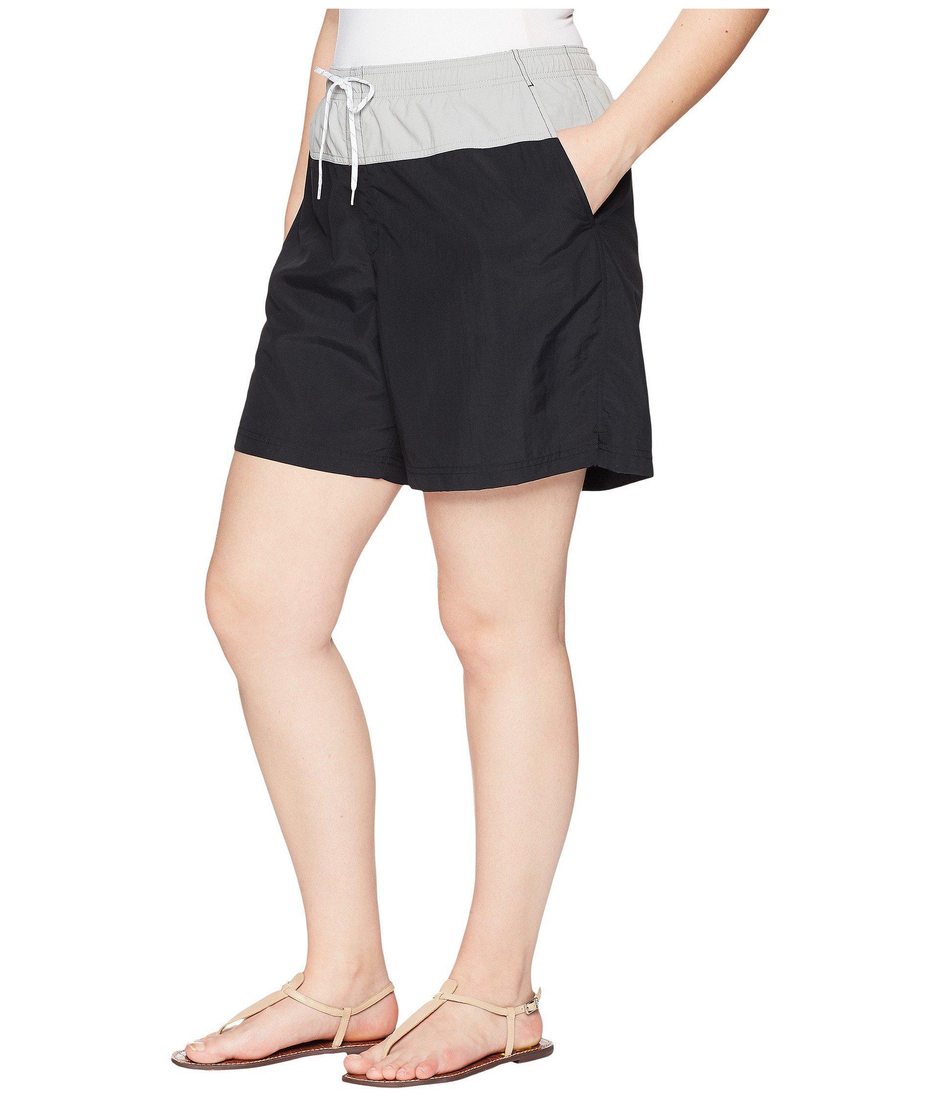303341b68c Lyst - Columbia Plus Size Sandy Rivertm Color Blocked Shorts in Black