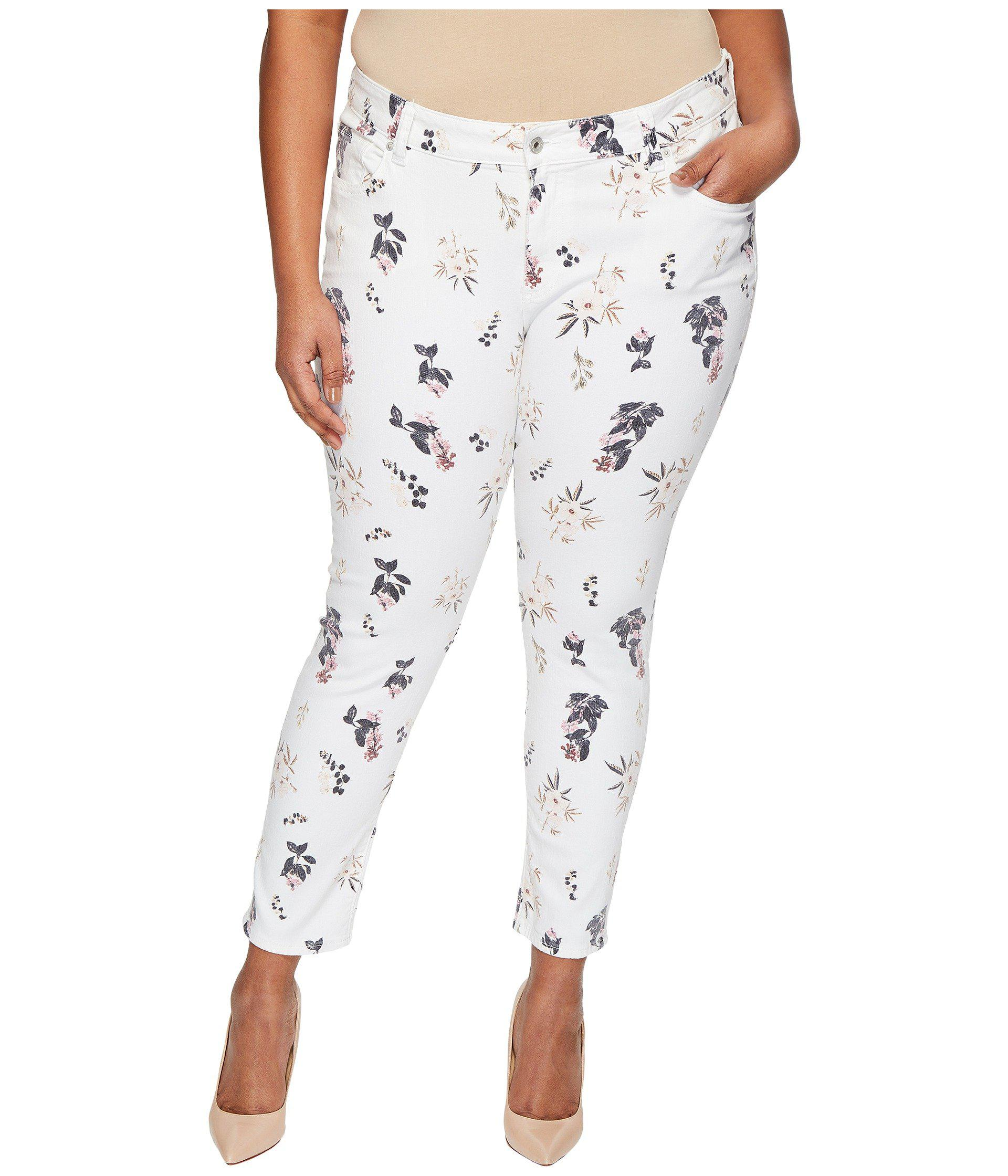 c5c600ab10a9 Lucky Brand Plus Size Ginger Skinny Jeans In Botanical Toss - Lyst