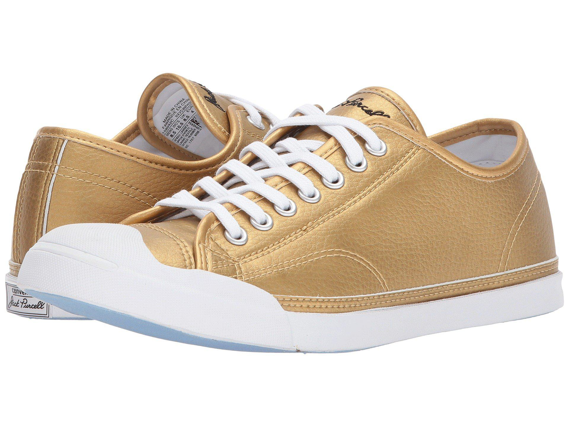 Lyst - Converse Jack Purcell® Lp Metallic Leather Ox - Save 32% 90ab5ec43d