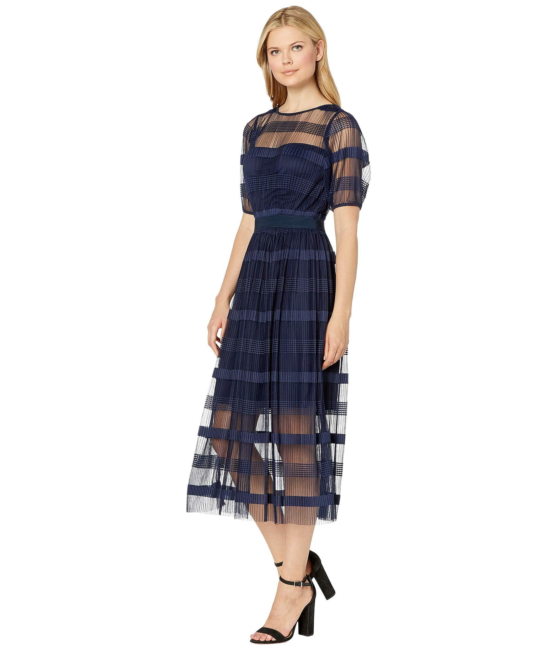 cb63654fd1 Eci Pleated Maxi Dress W  Short Sleeve in Blue - Save 9% - Lyst