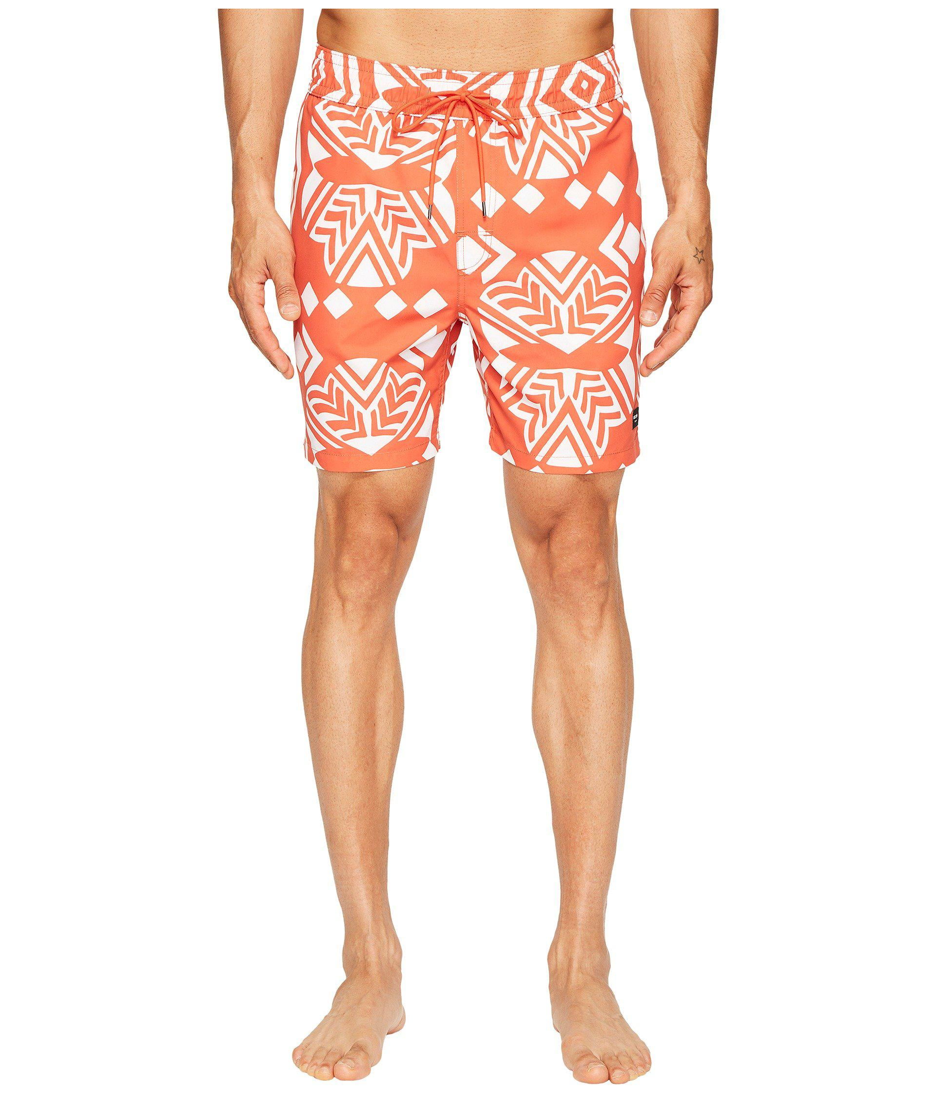2b3c27af53 Lyst - Jack Spade Exploded Mexican Flower Swim Trunks in Orange for Men