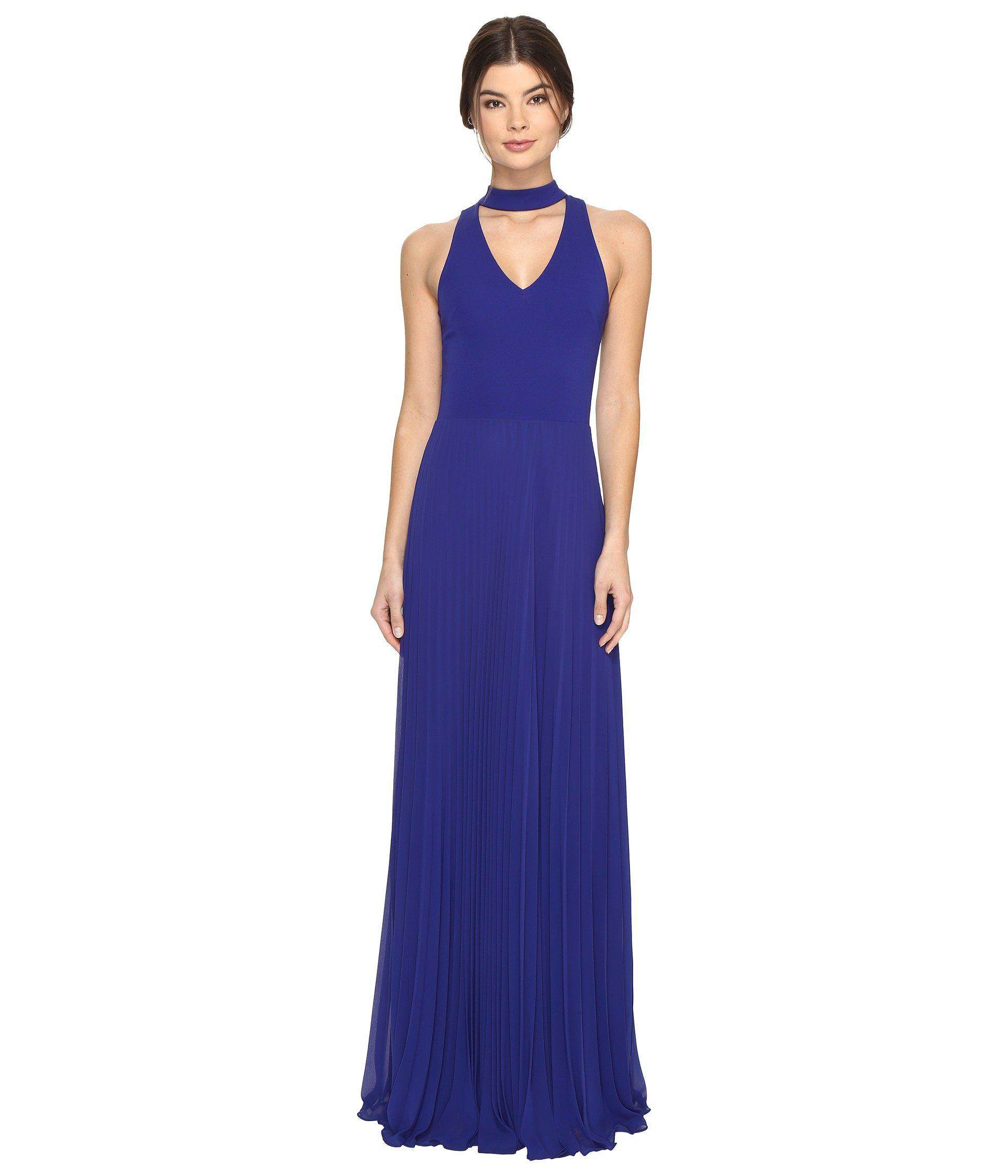 f31e02c9c84 Nicole Miller - Blue Blair Pleated Gown - Lyst. View fullscreen