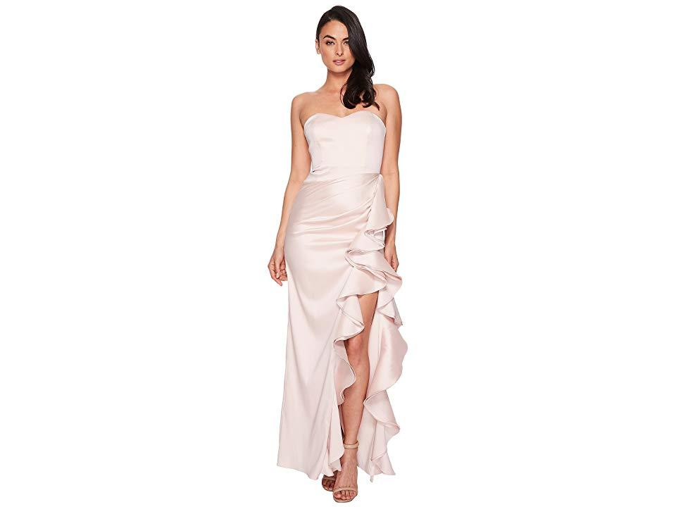 3c9f548e31a7 Badgley Mischka Strapless Twill Ruffle Gown (blush) Dress in Pink ...