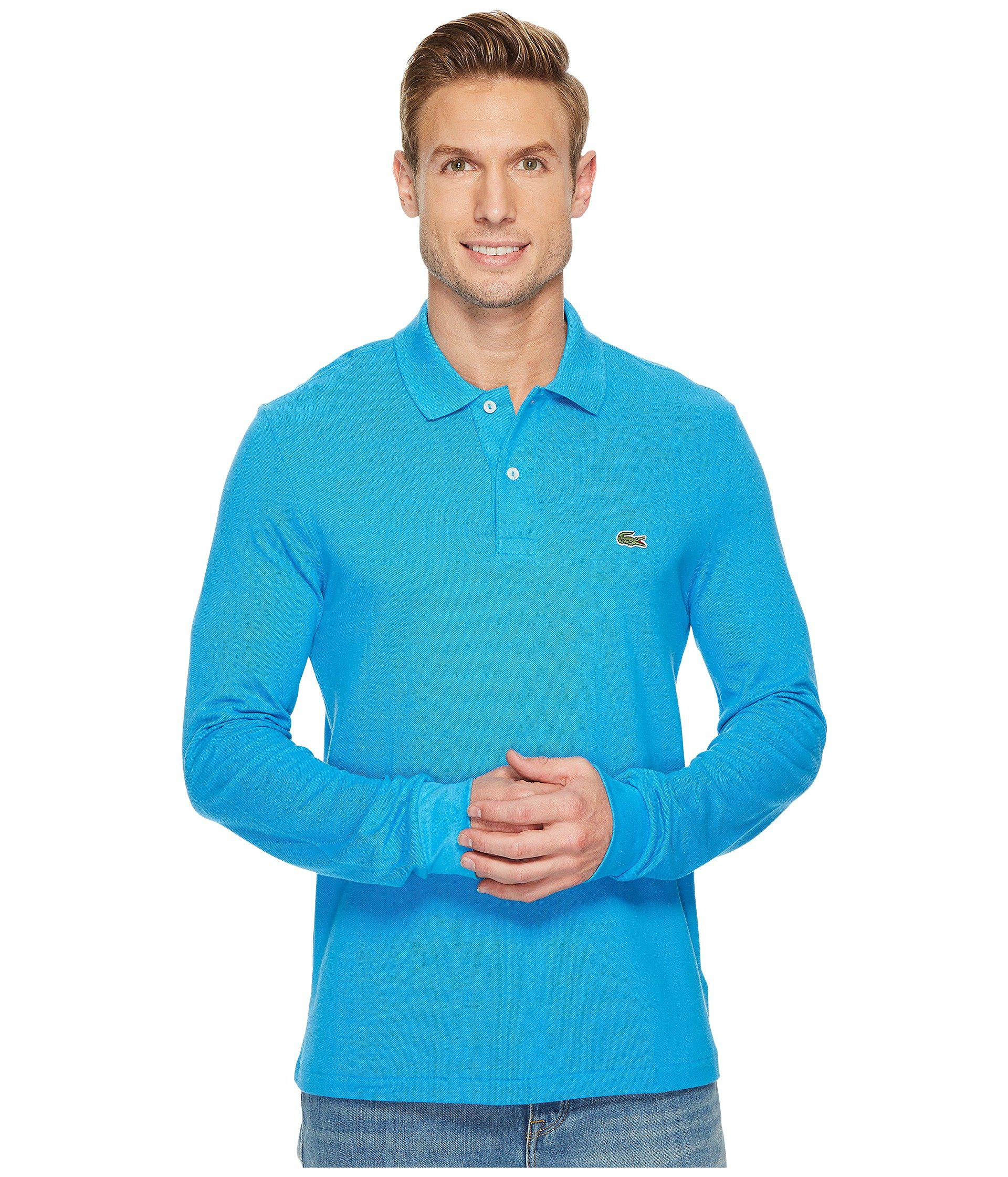 c9988ee8 Lyst - Lacoste L/s Classic Pique Polo in Blue for Men