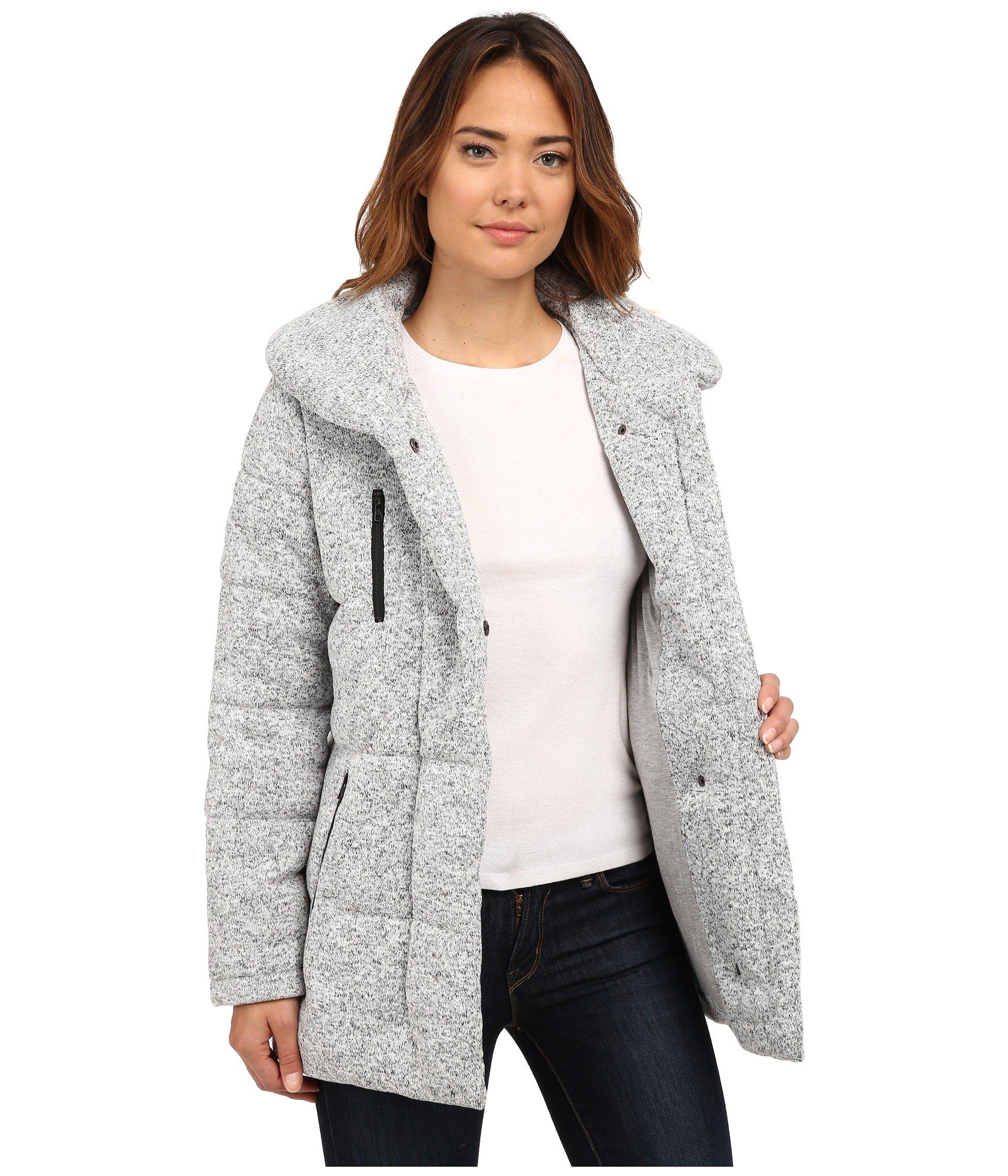 Hurley Augustine Puffer Jacket In Gray Lyst