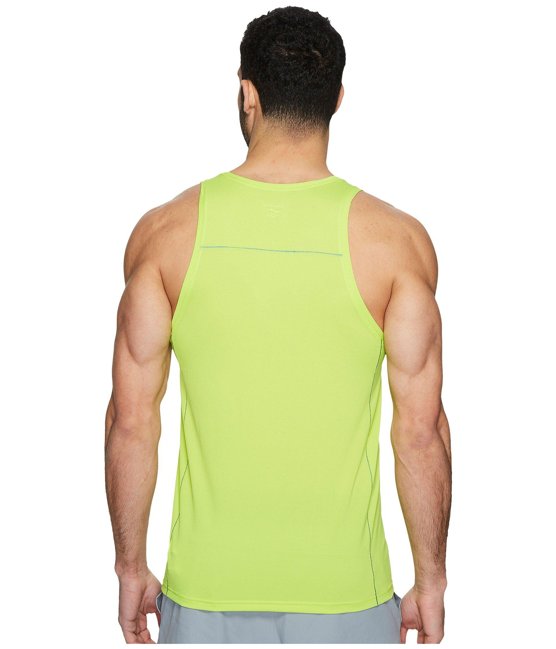 23c9e0c1492619 Lyst - Brooks Ghost Tank Top in Green for Men