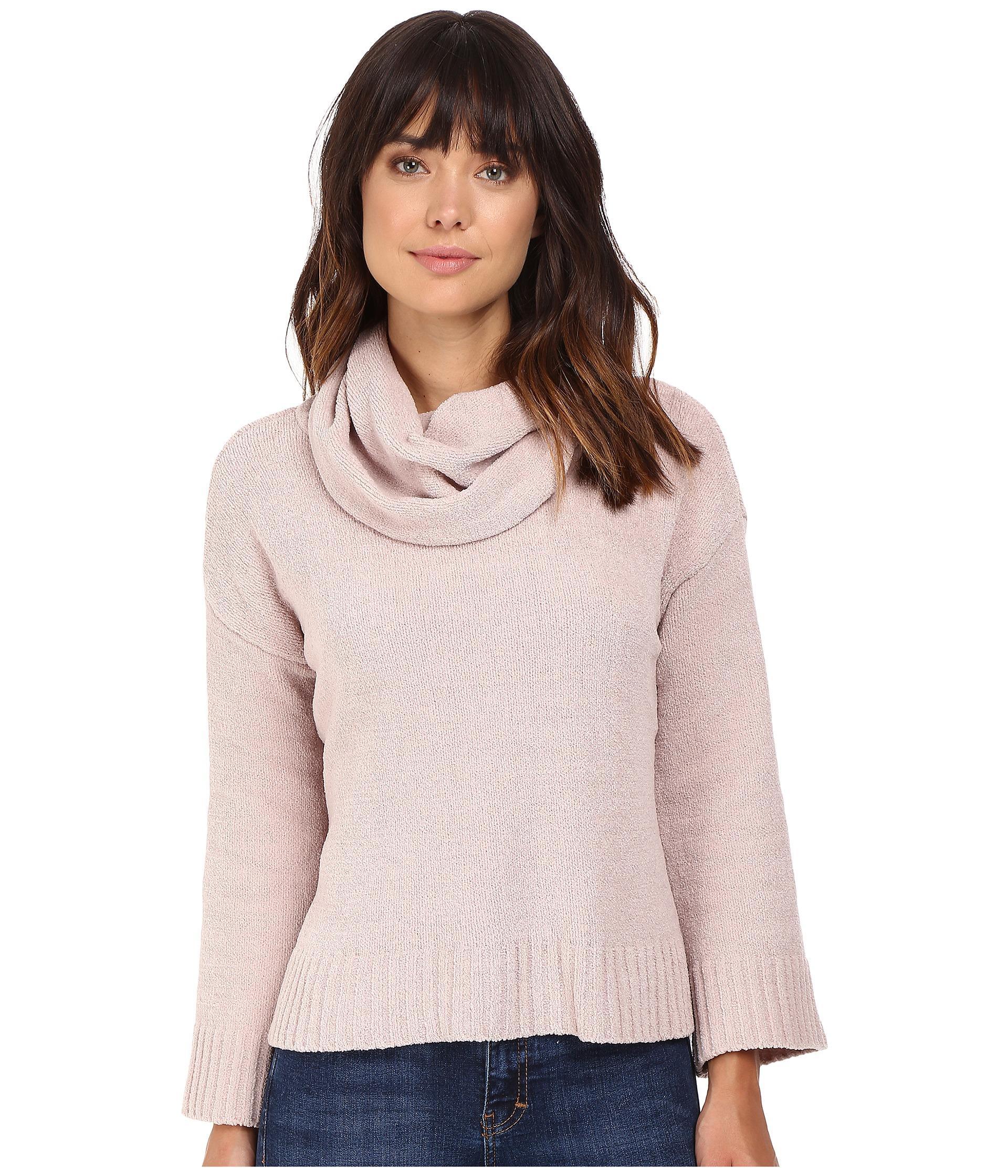Bb dakota Marcilly Cowl Neck Sweater in Pink | Lyst