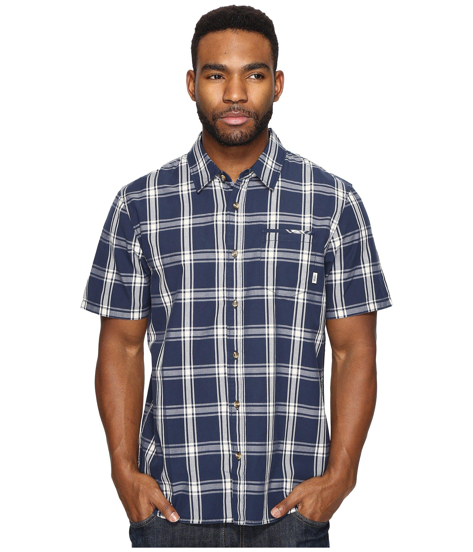 Lyst Vans Stafford Short Sleeve Woven In Blue For Men