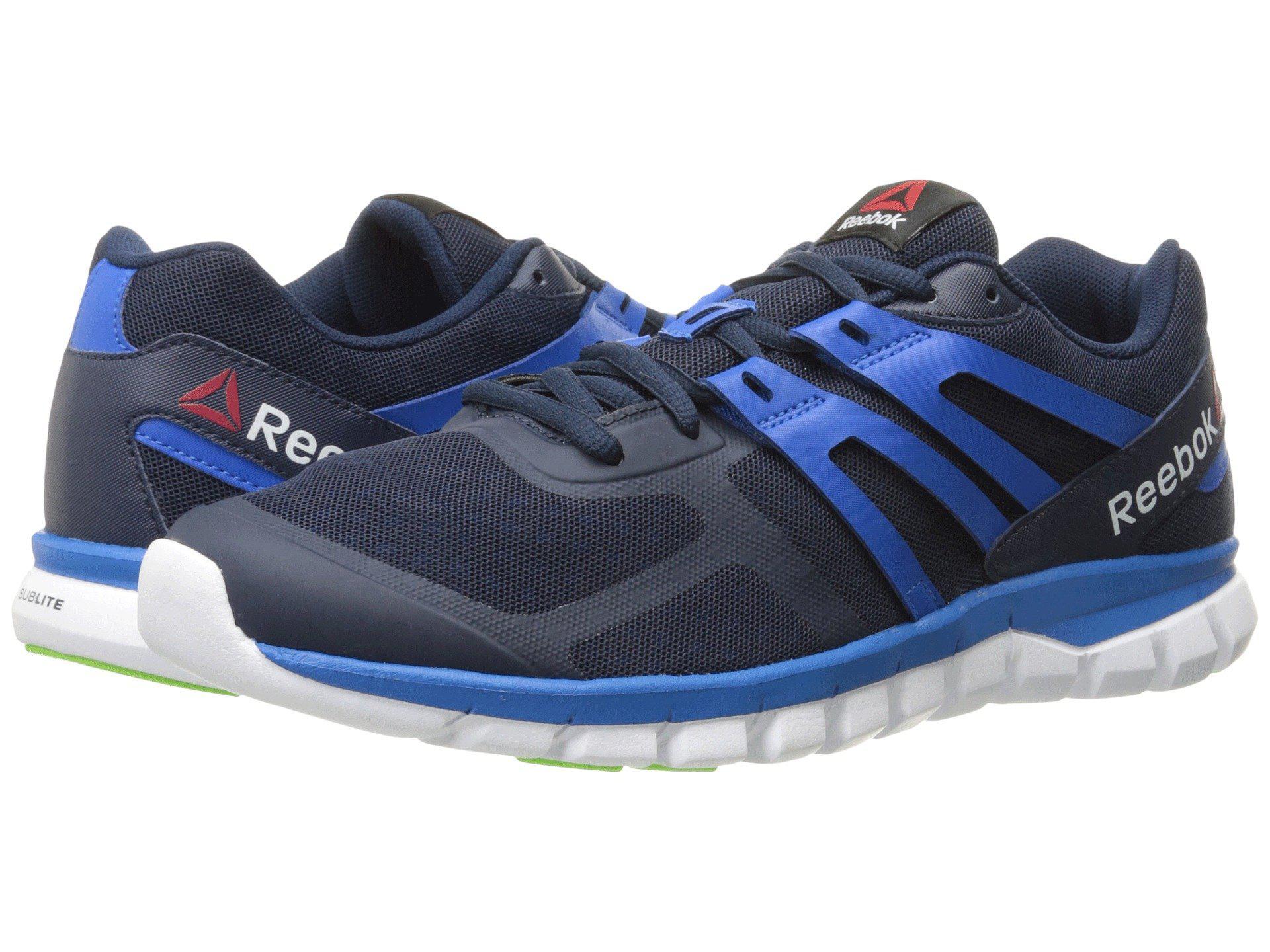 Lyst - Reebok Sublite Xt Cushion Mt Running Shoe in Blue for Men 687f8257a