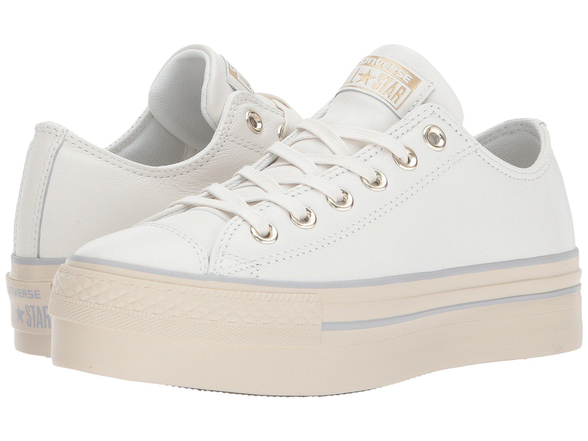 293112b6218 Lyst - Converse Chuck Taylor® All Star® Platform Leather Ox in White