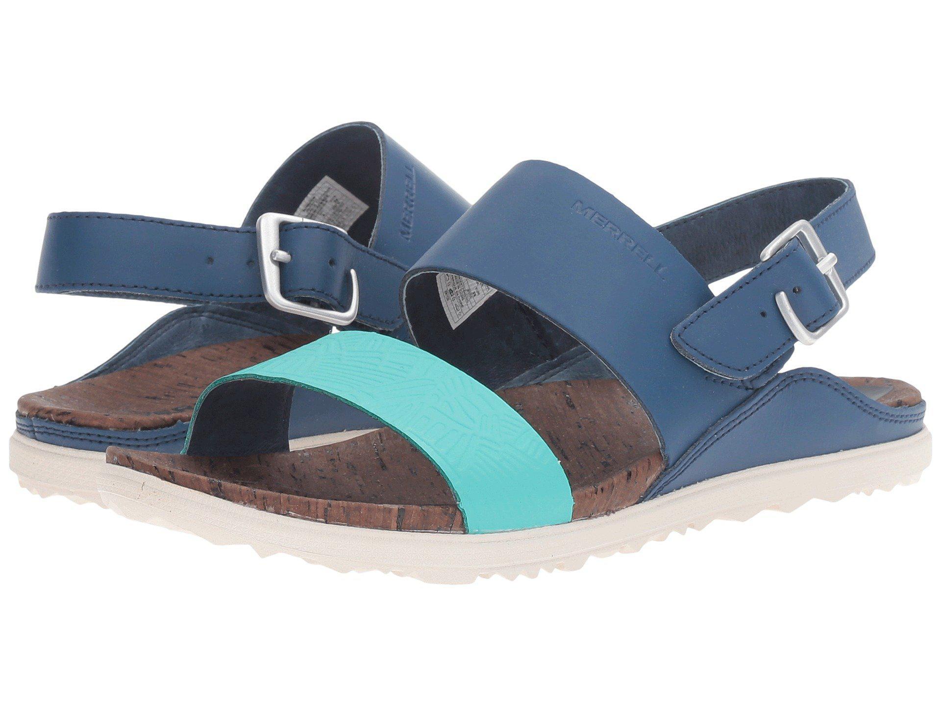 49c14039c0ba Merrell. Women s Blue Around Town Double Banded Color Block Backstrap Print  Sandals
