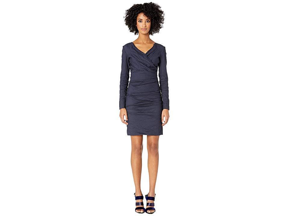 c3e5cffe5cbf Nicole Miller Surplice Tuck Dress (navy) Dress in Blue - Save 36% - Lyst