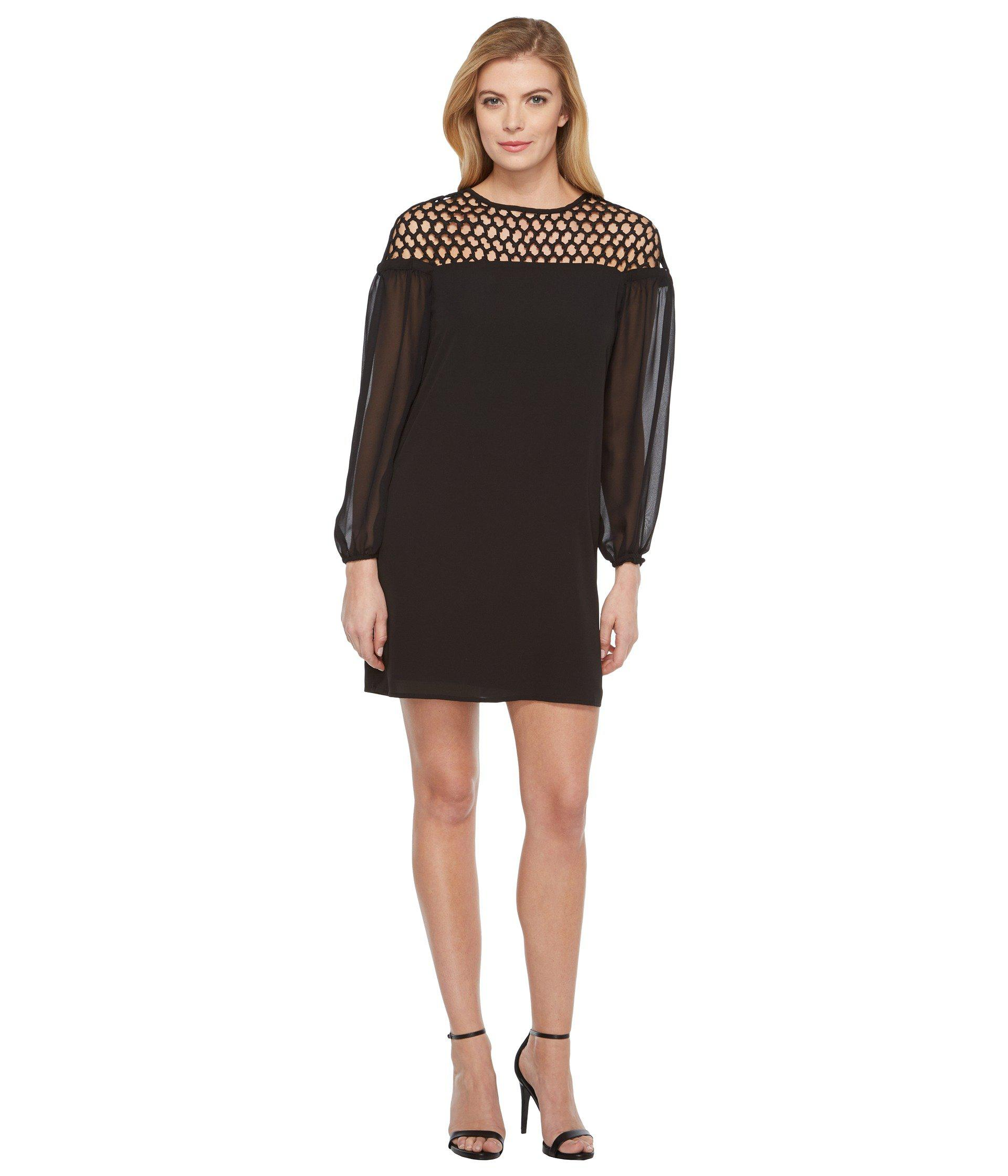 1eb4aa699e Lyst - Laundry by Shelli Segal 3 4 Sleeve Cocktail Dress in Black ...