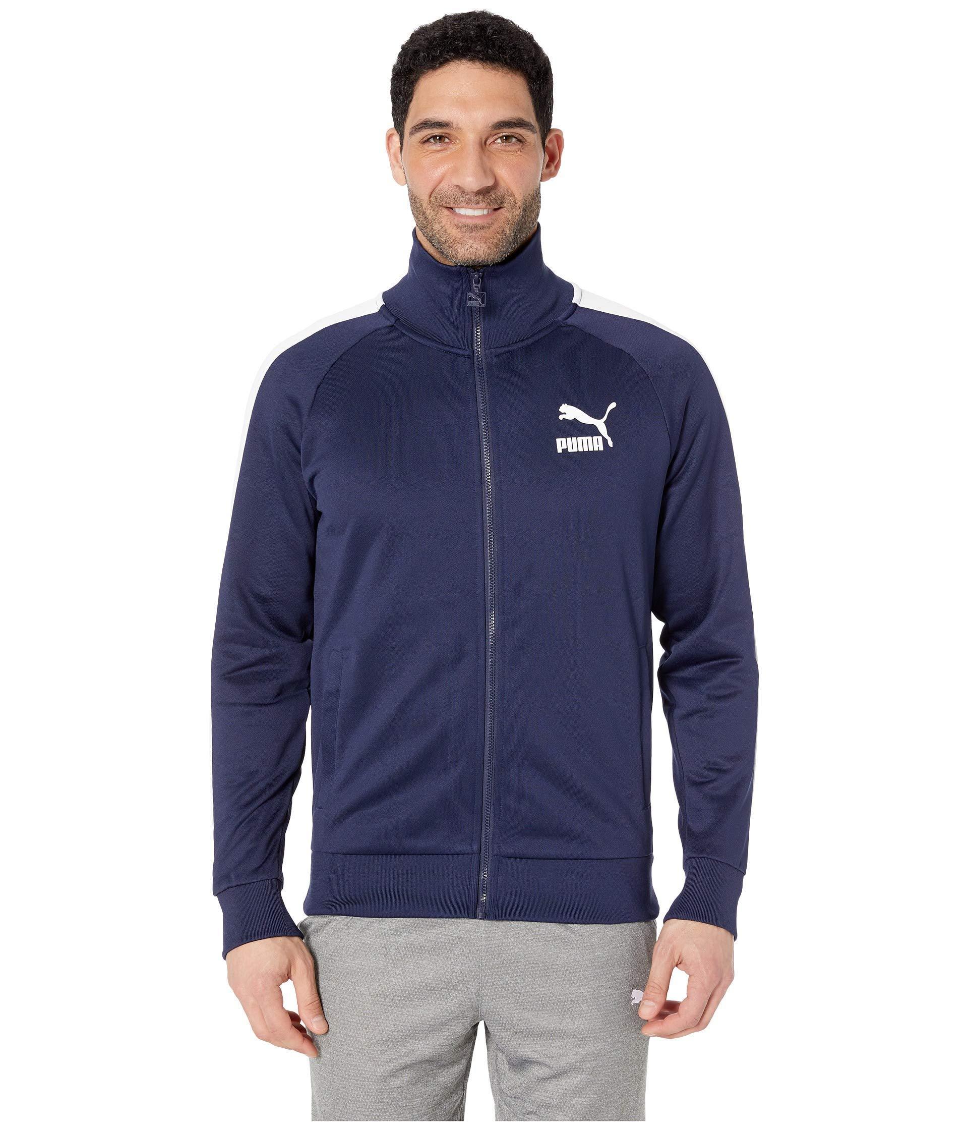 8afb31e288d0 PUMA - Blue Iconic T7 Track Jacket for Men - Lyst. View fullscreen