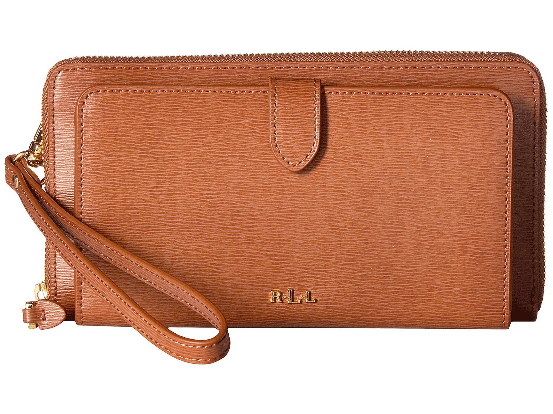 6b5316239fb7 Lyst - Lauren by Ralph Lauren Newbury Everything Wristlet in Brown