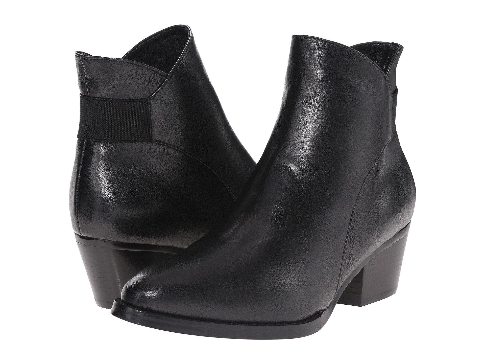 Womens Boots Vaneli Reagan Black Suede/Matching Elastic