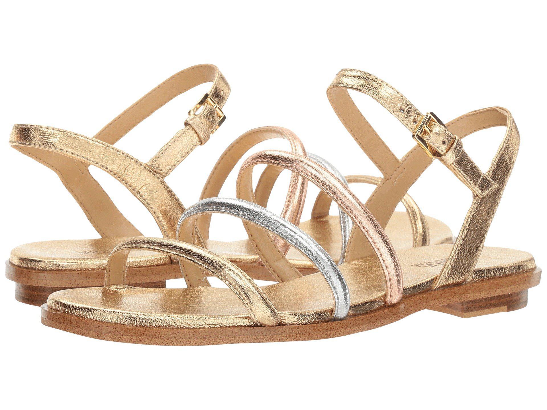 42c30ba26077 Lyst - MICHAEL Michael Kors Nantucket Flat Sandal in Metallic
