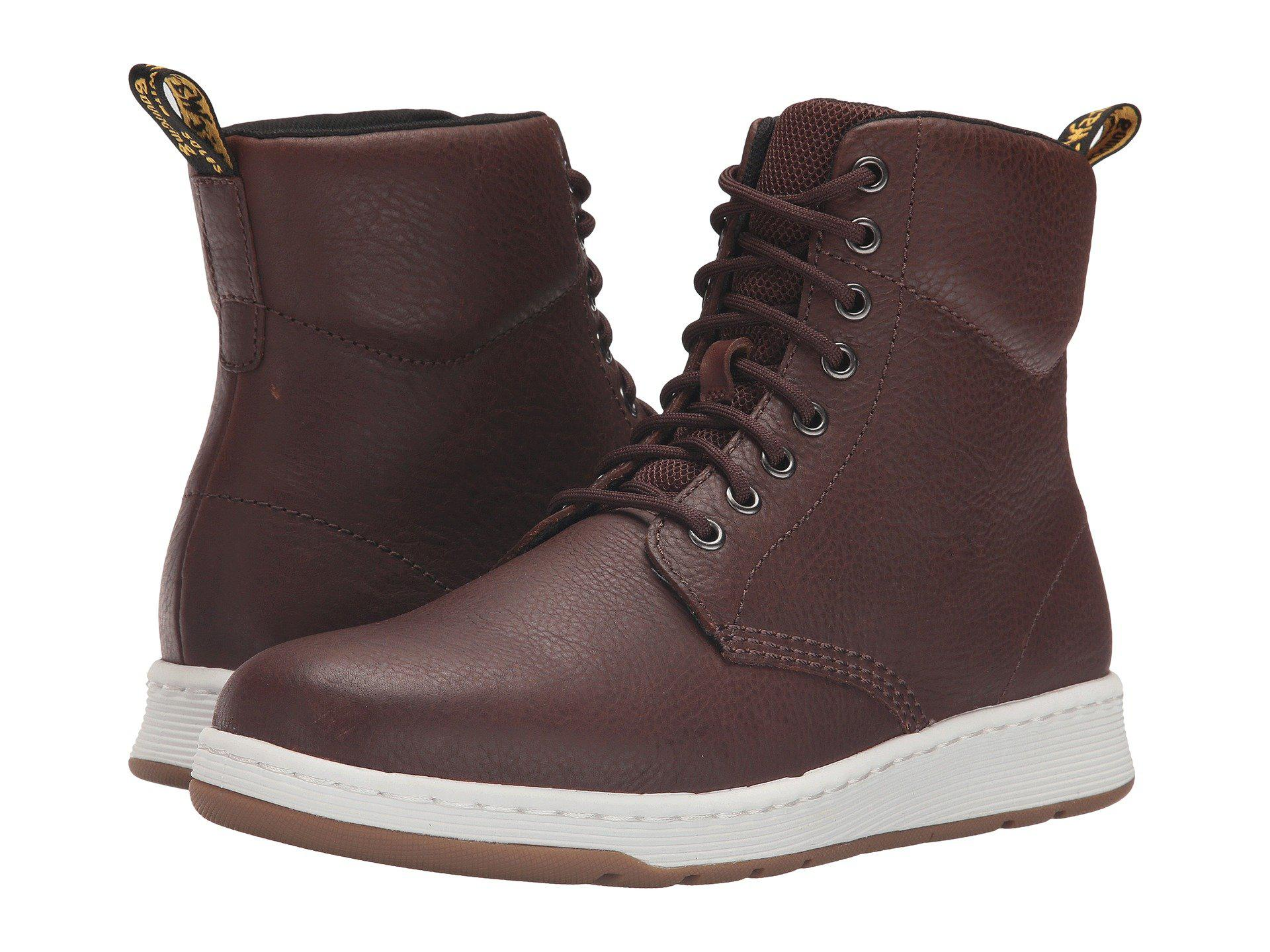 Dr. Martens. Brown Men´s Rigal 8 Eye Lace Up Boots