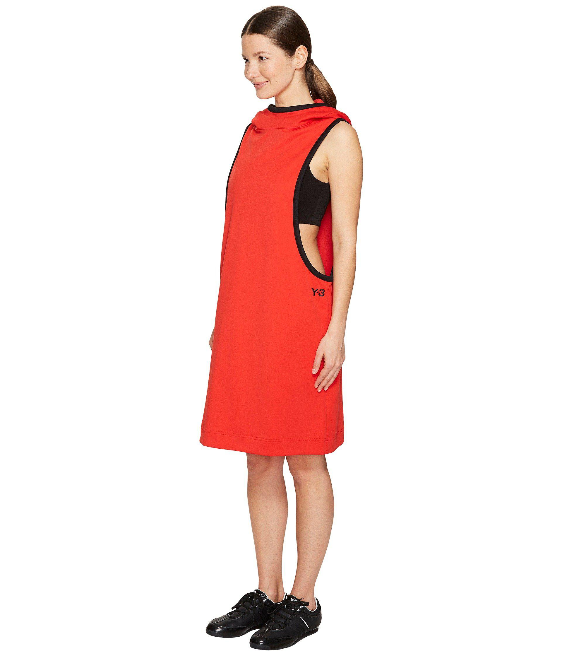 dffde17a69ad Lyst - Y-3 Track Dress in Red