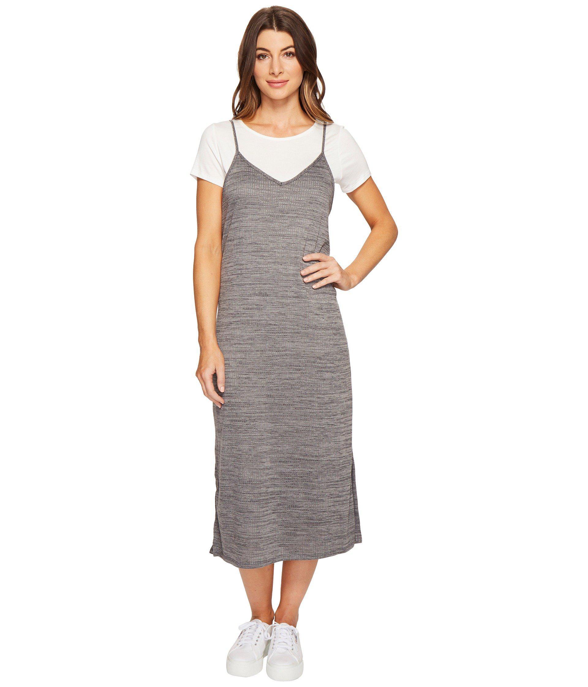 e2e0011a6c5a3 Lyst - Culture Phit Alessia Spaghetti Strap T-shirt Maxi Dress in Gray