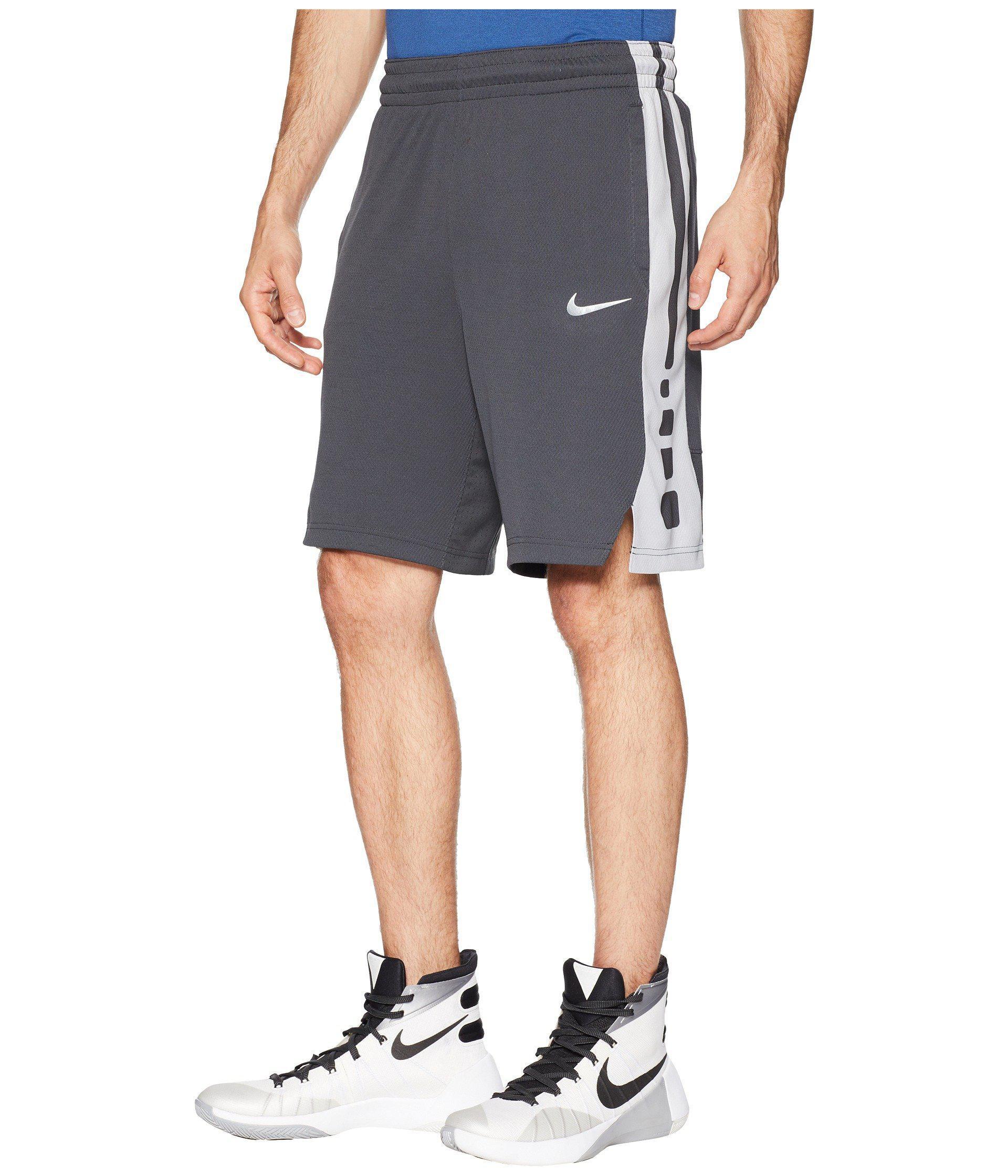 1b29d1a58baf Lyst - Nike Elite Stripe Basketball Short in Gray for Men