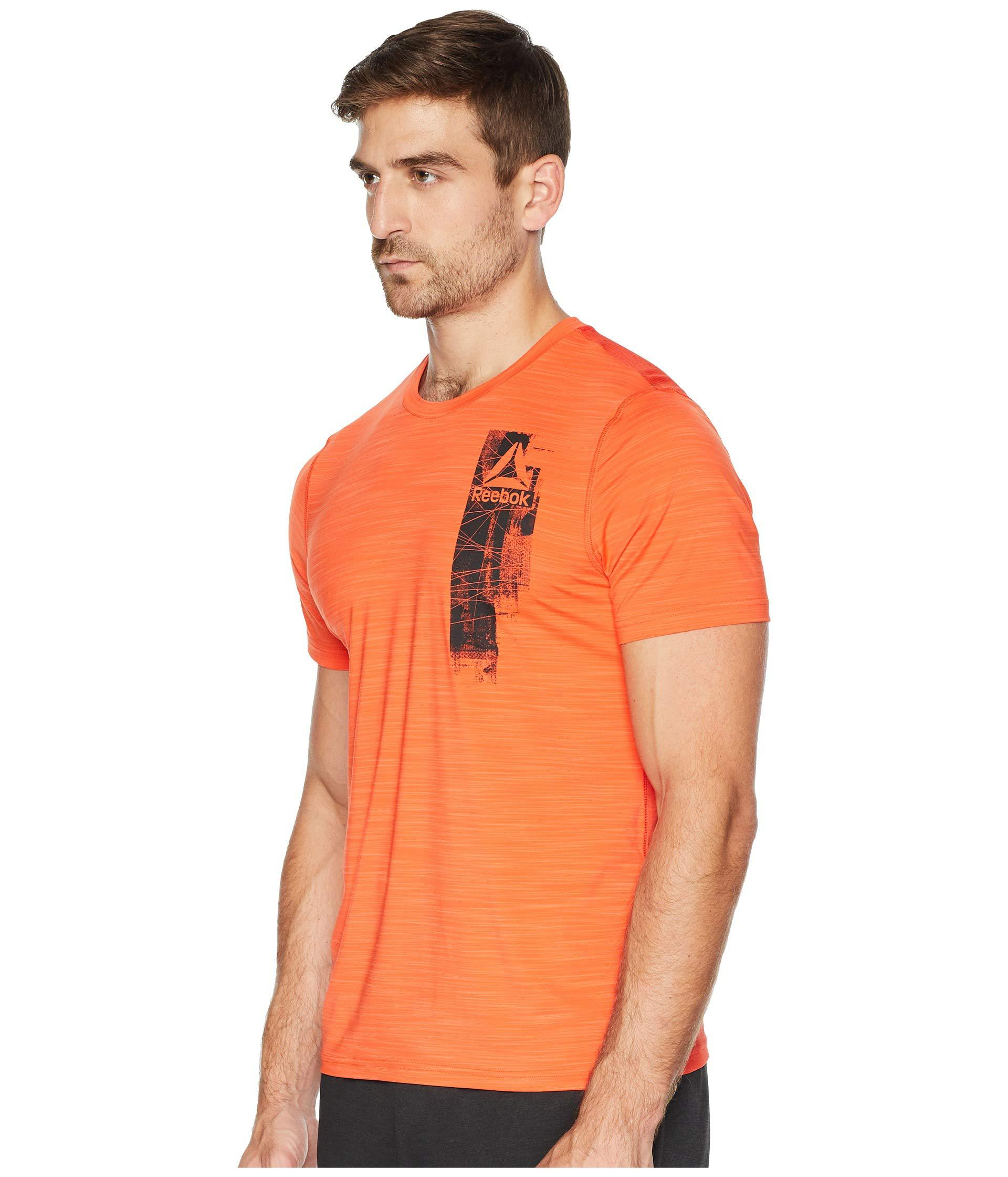 a5b9b6557256c Lyst - Reebok Workout Ready Activchill Graphic Top in Orange for Men - Save  5%
