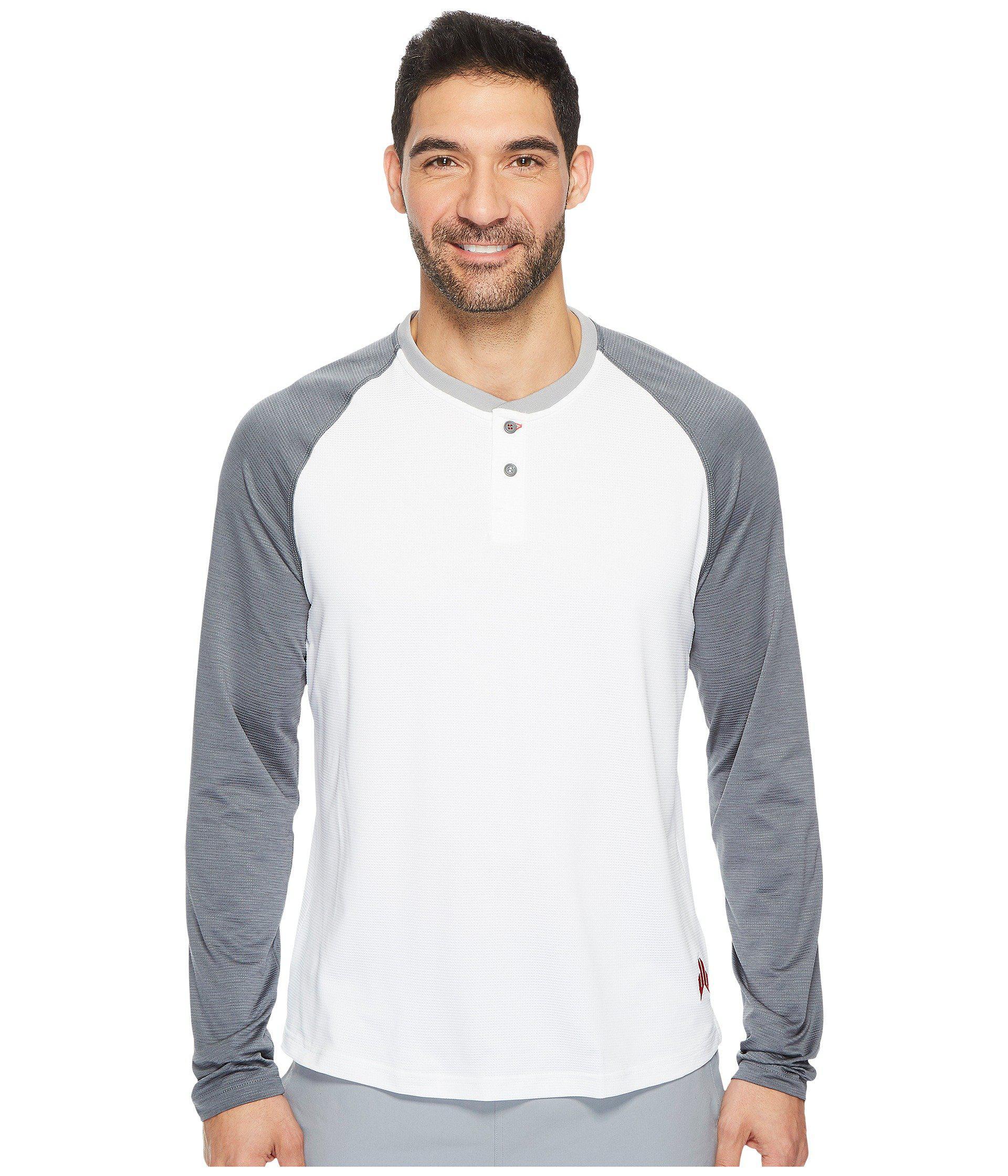 Lyst Reebok Jj Watt Baseball Long Sleeve Henley In White For Men