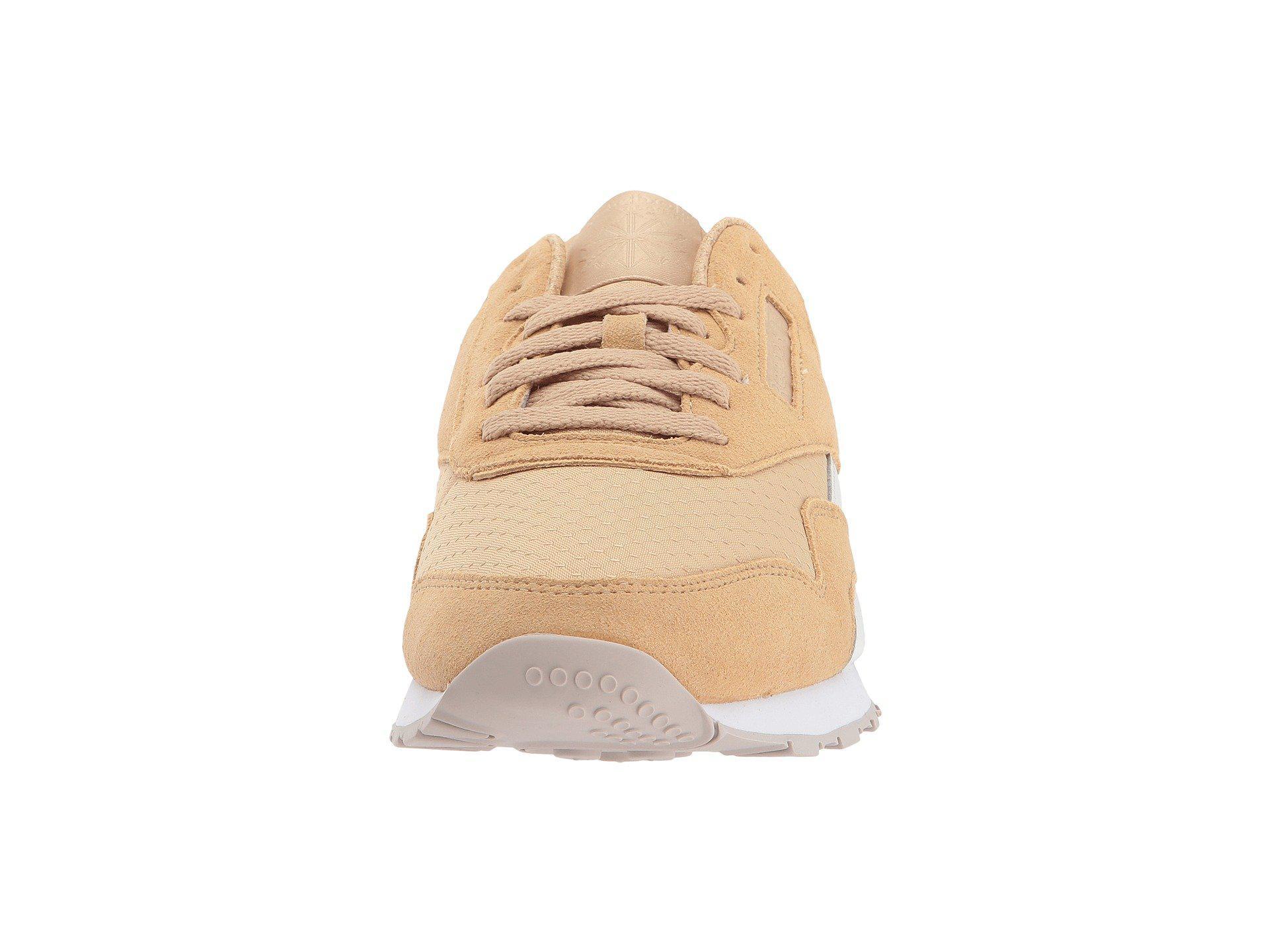 0b05666bb4c Lyst - Reebok Cl Nylon Rs Fashion Sneaker in Natural