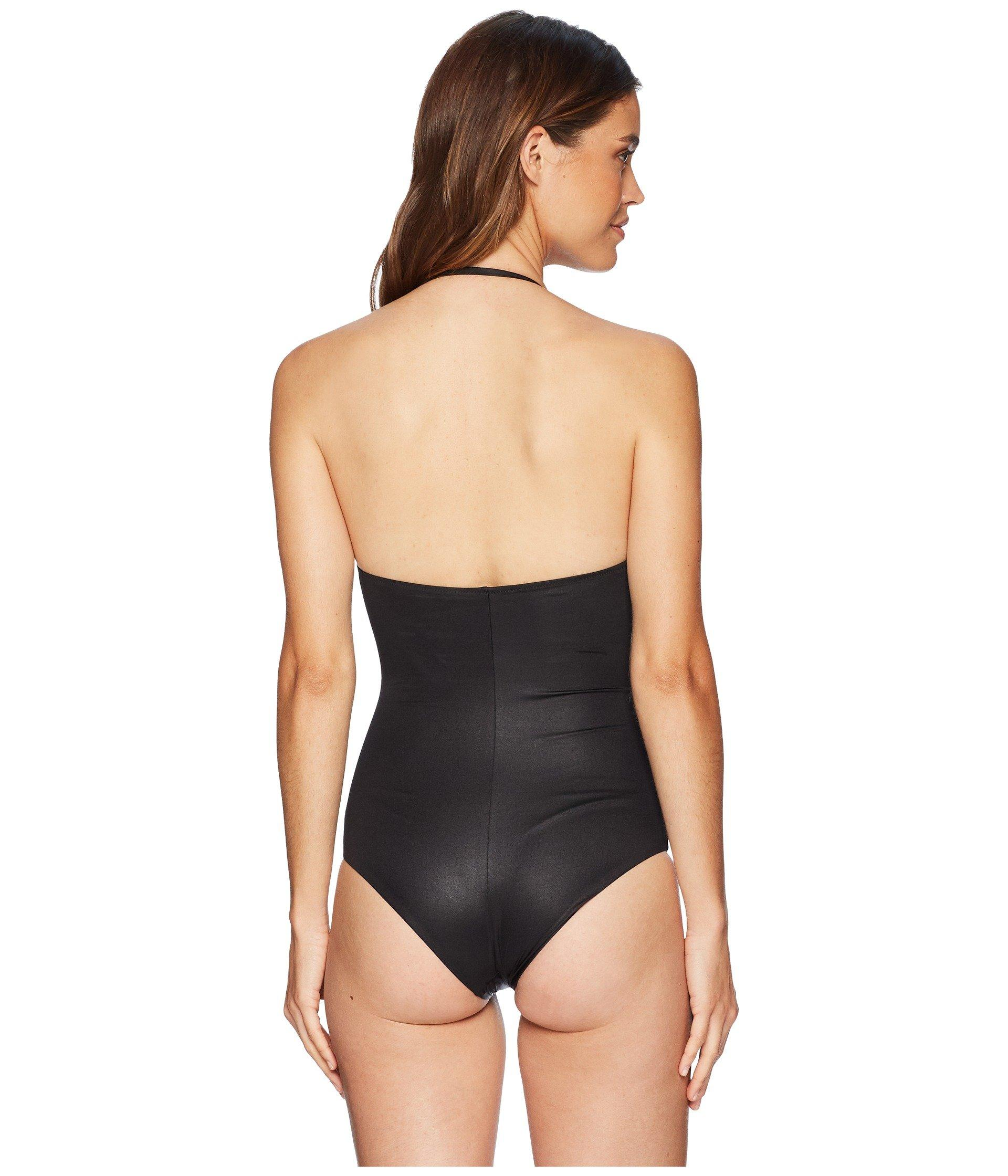 2bbe11eb73f3d Versace - Black Intero Elastic Gold Medusa Maillot One-piece Swimsuit -  Lyst. View fullscreen