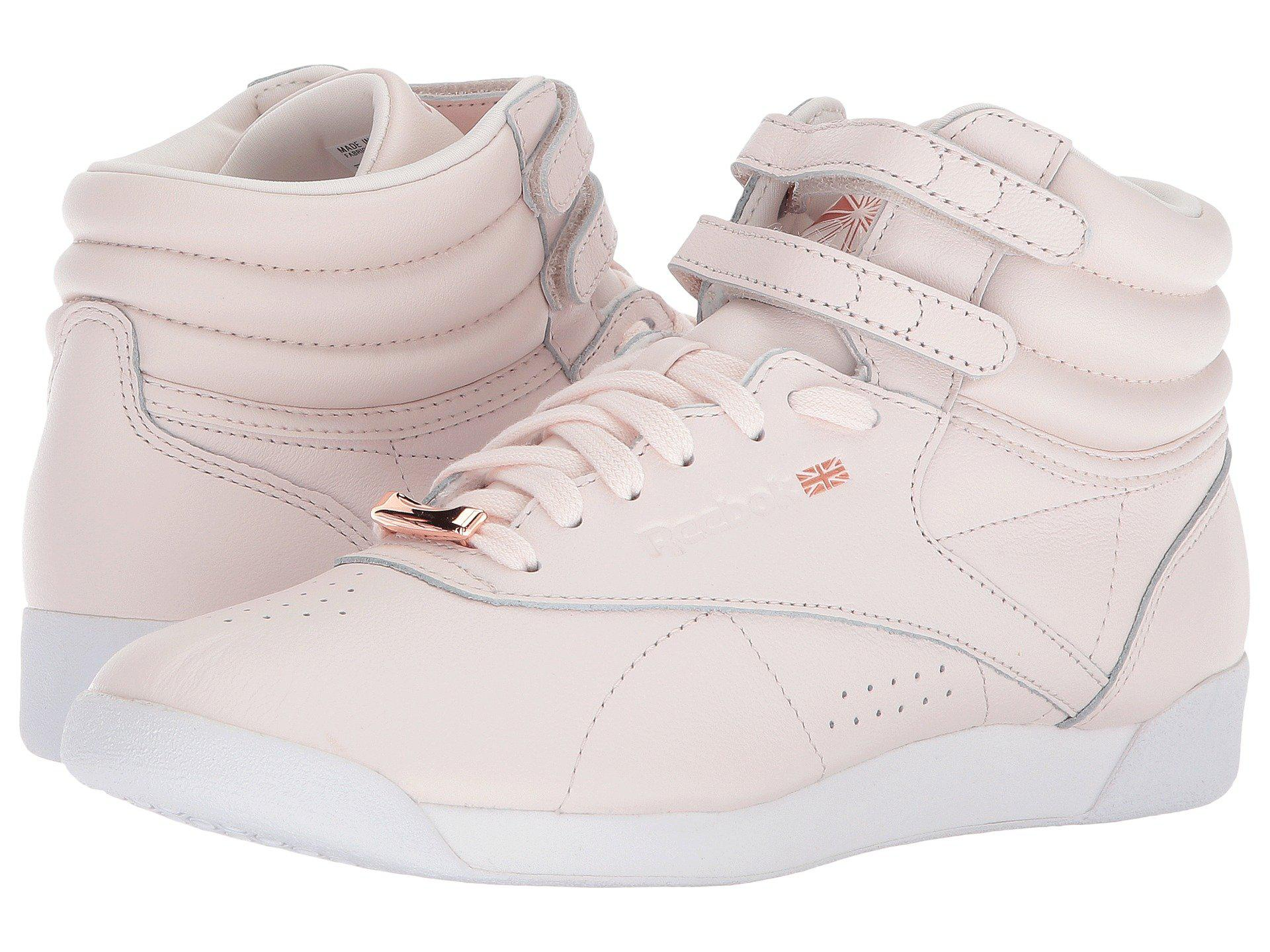 f2fb9701502 Lyst - Reebok Freestyle Hi Muted in Pink - Save 12%