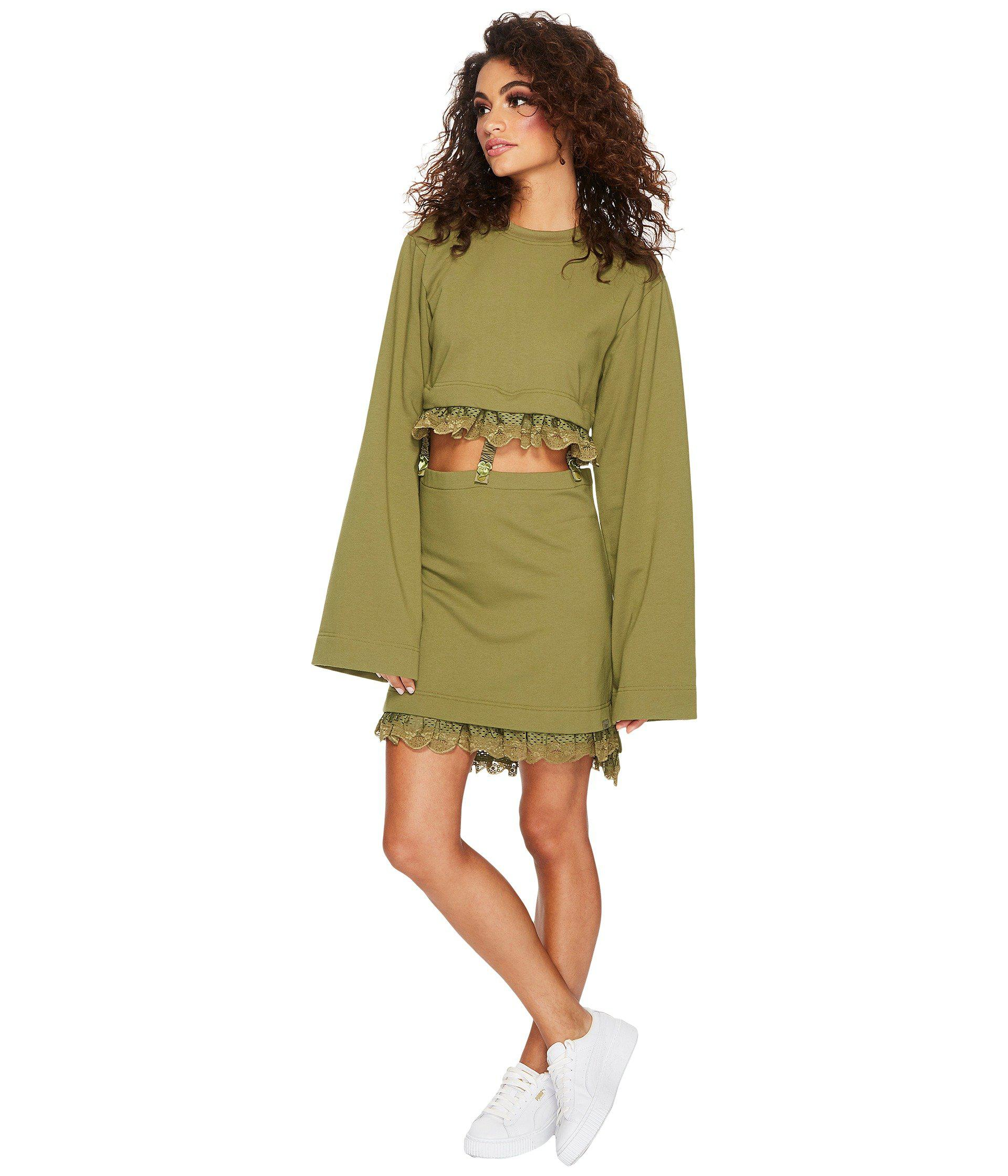 9e8c796428f6 Lyst - PUMA Fenty Kimono Sleeve T-shirt in Green