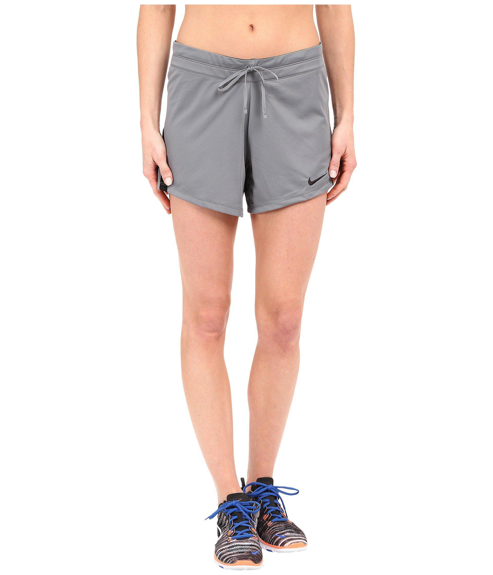 Nike. Women's Black Infiknit Mid Shorts