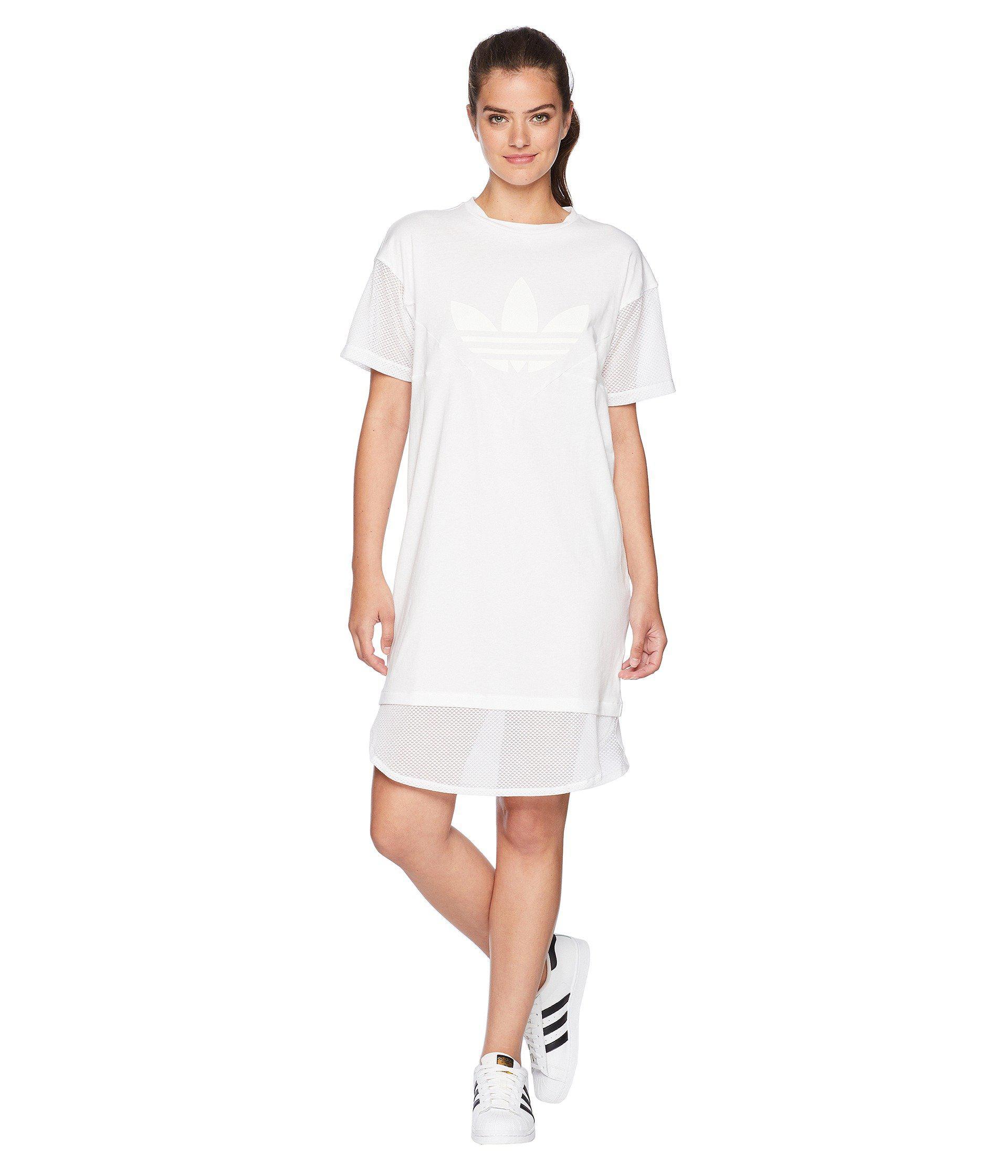 0427e628187 Lyst - adidas Originals Clrdo Tee Dress in White