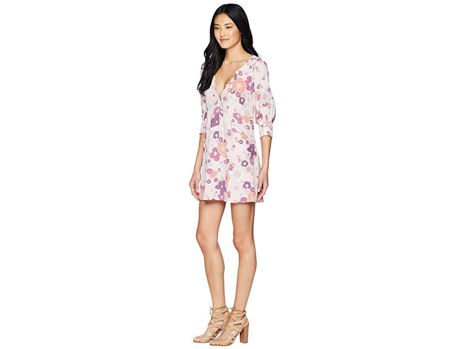 6d8910438c3b For Love & Lemons - Magnolia Trapeze Mini Dress (pink Blossom) Dress -  Lyst. View fullscreen