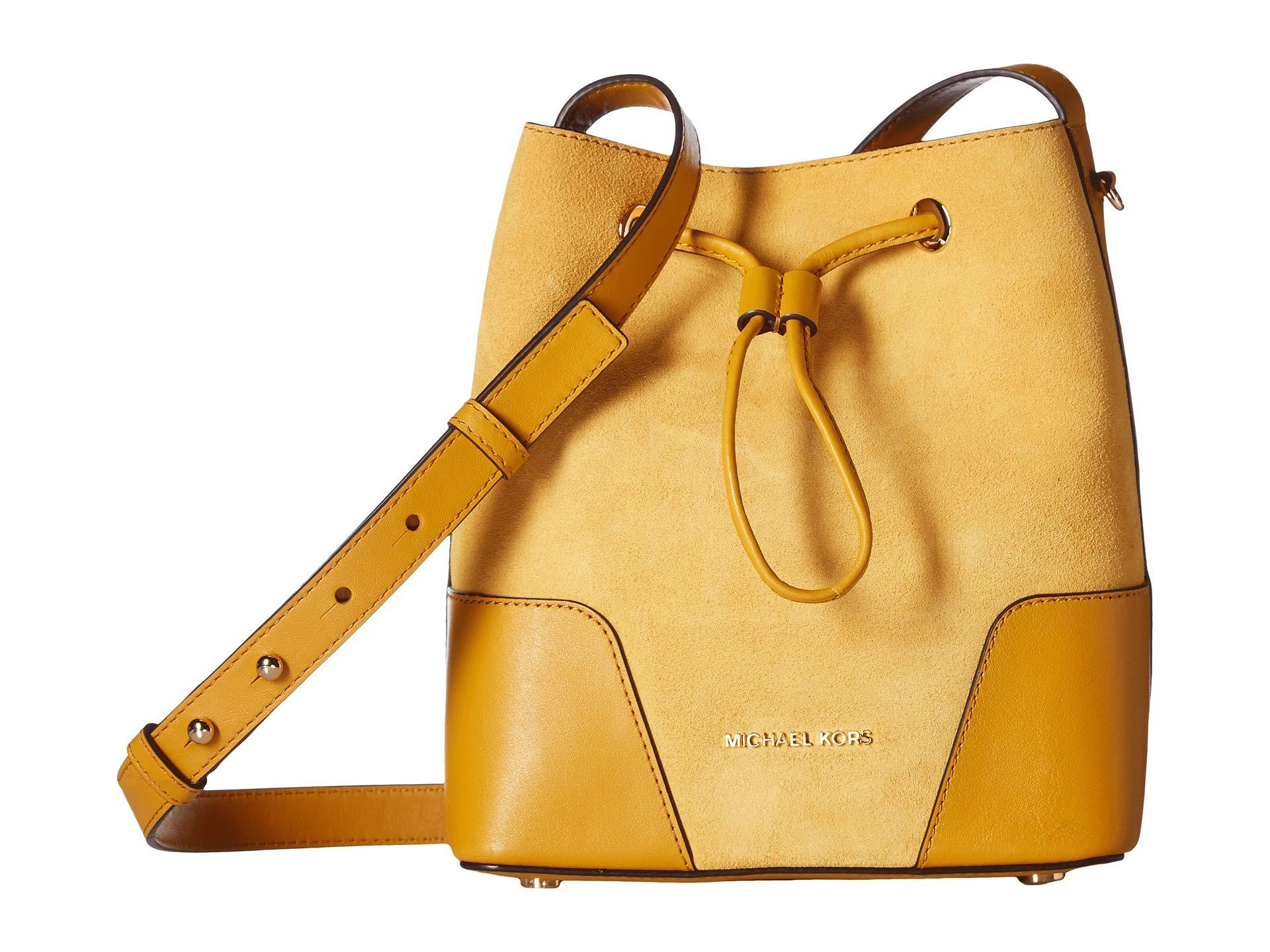 6e106f395 MICHAEL Michael Kors Cary Small Bucket Bag in Yellow - Lyst
