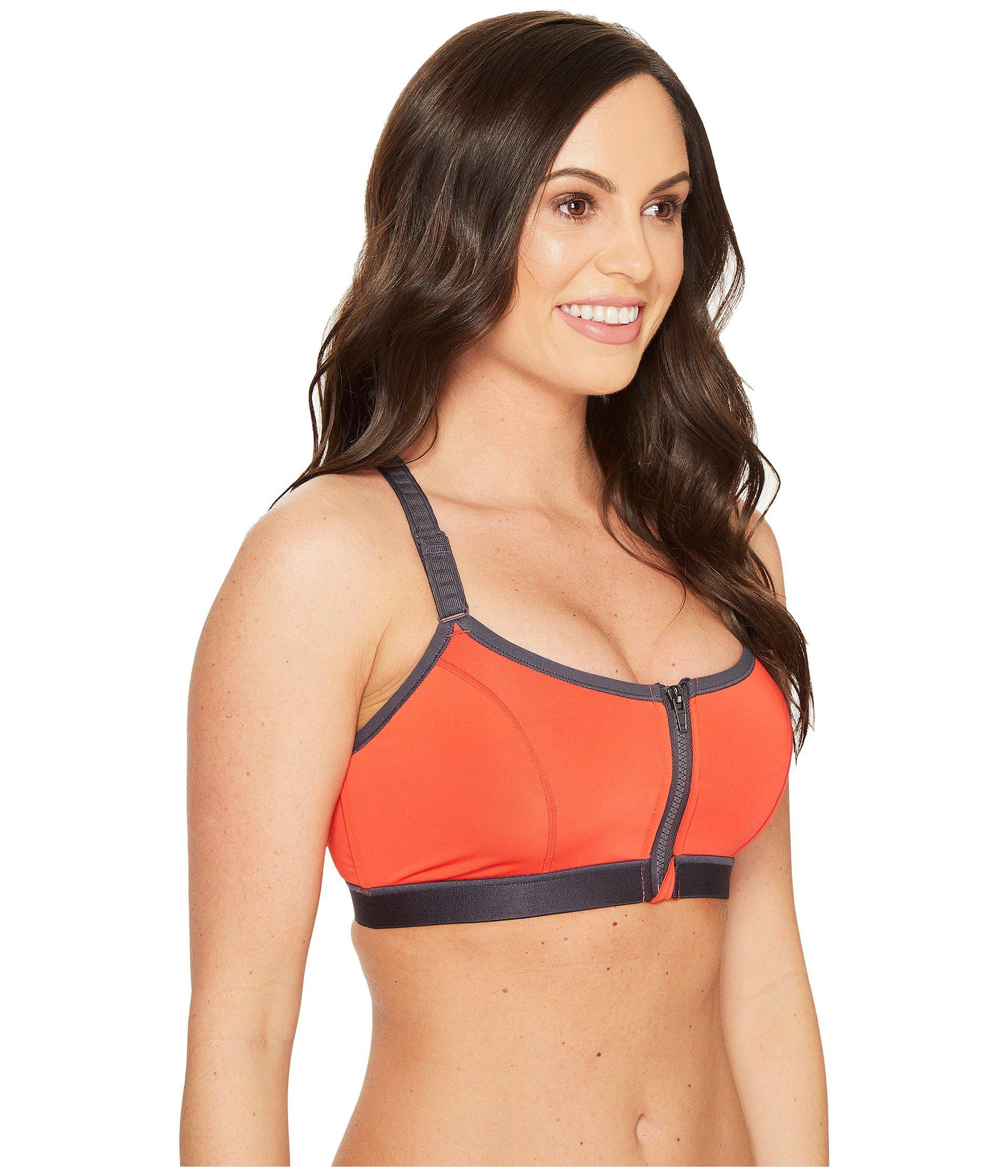 437e62fb17449 Natori - Red Yogi Zip-front Wireless High-impact Sports Bra 736050 - Lyst.  View fullscreen