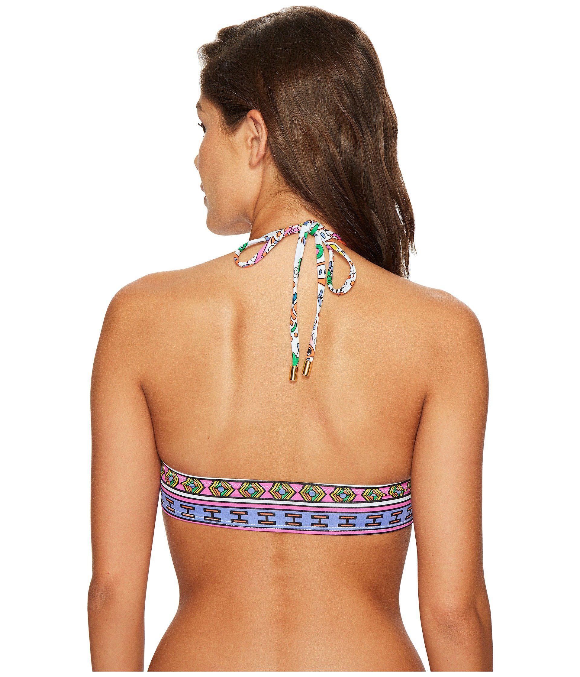 6fb06f1ea2387c Lyst - Trina Turk Jungle Beach Crop Tri Bikini Top in Blue
