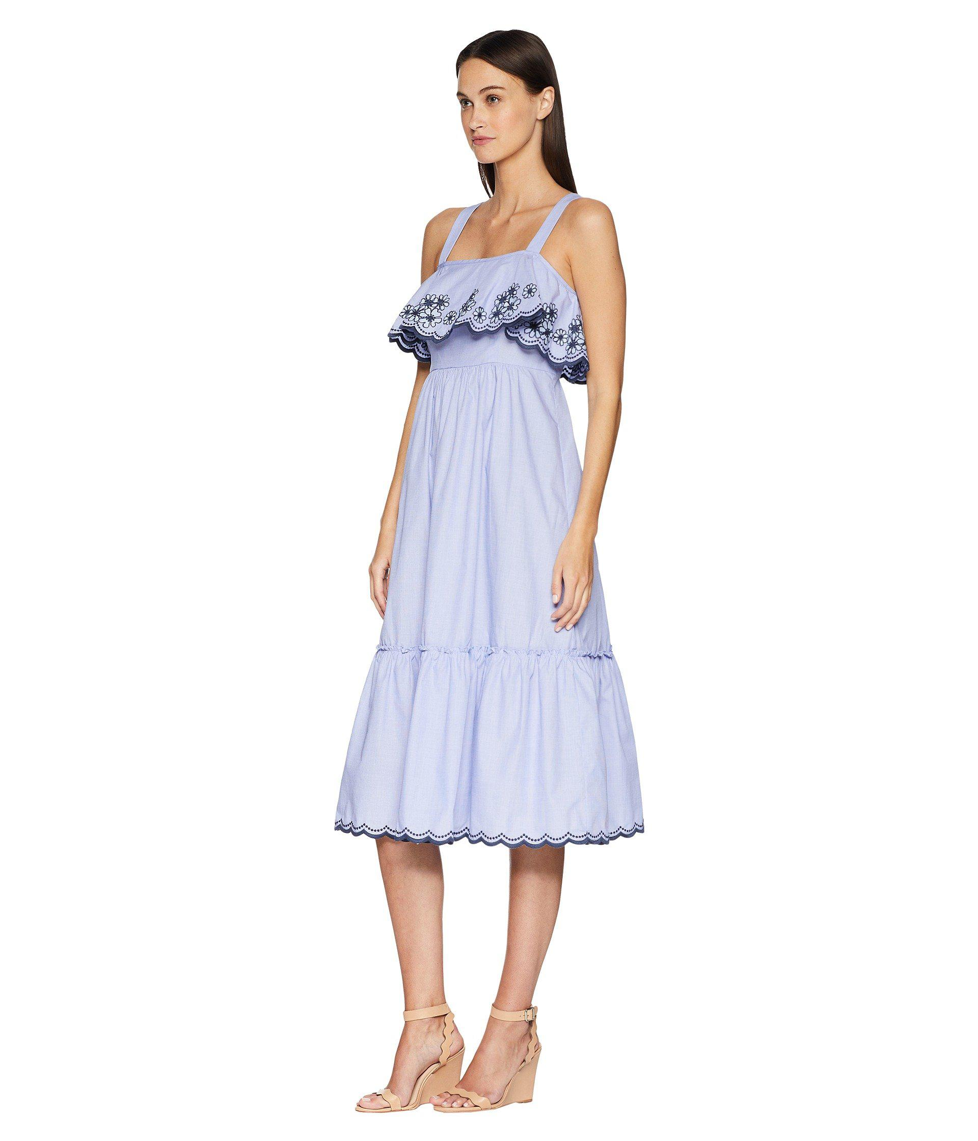 8291b8a5c4 Lyst - Kate Spade Daisy Embroidered Patio Dress in Blue - Save 64%