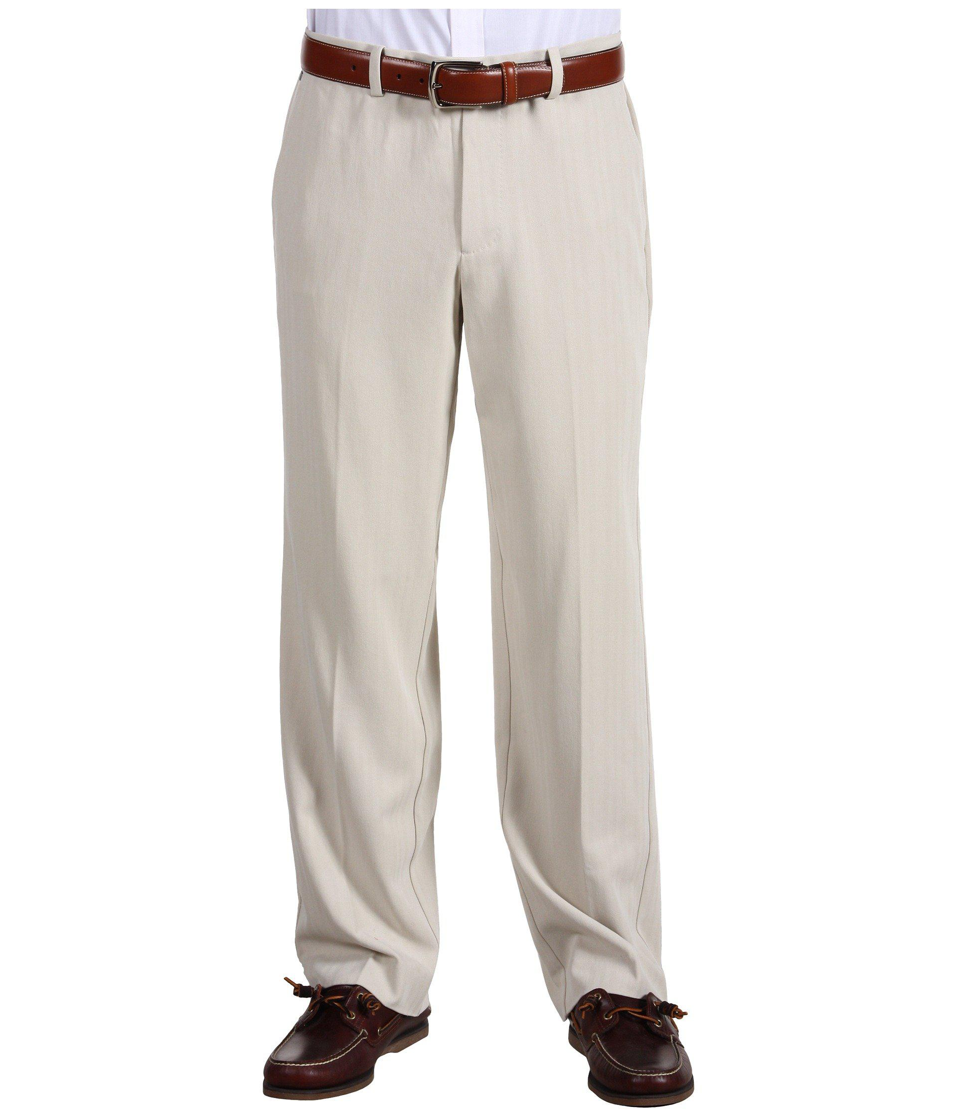 916bd510f14 Lyst - Tommy Bahama Flying Fishbone Flat Front Pant in Natural for Men