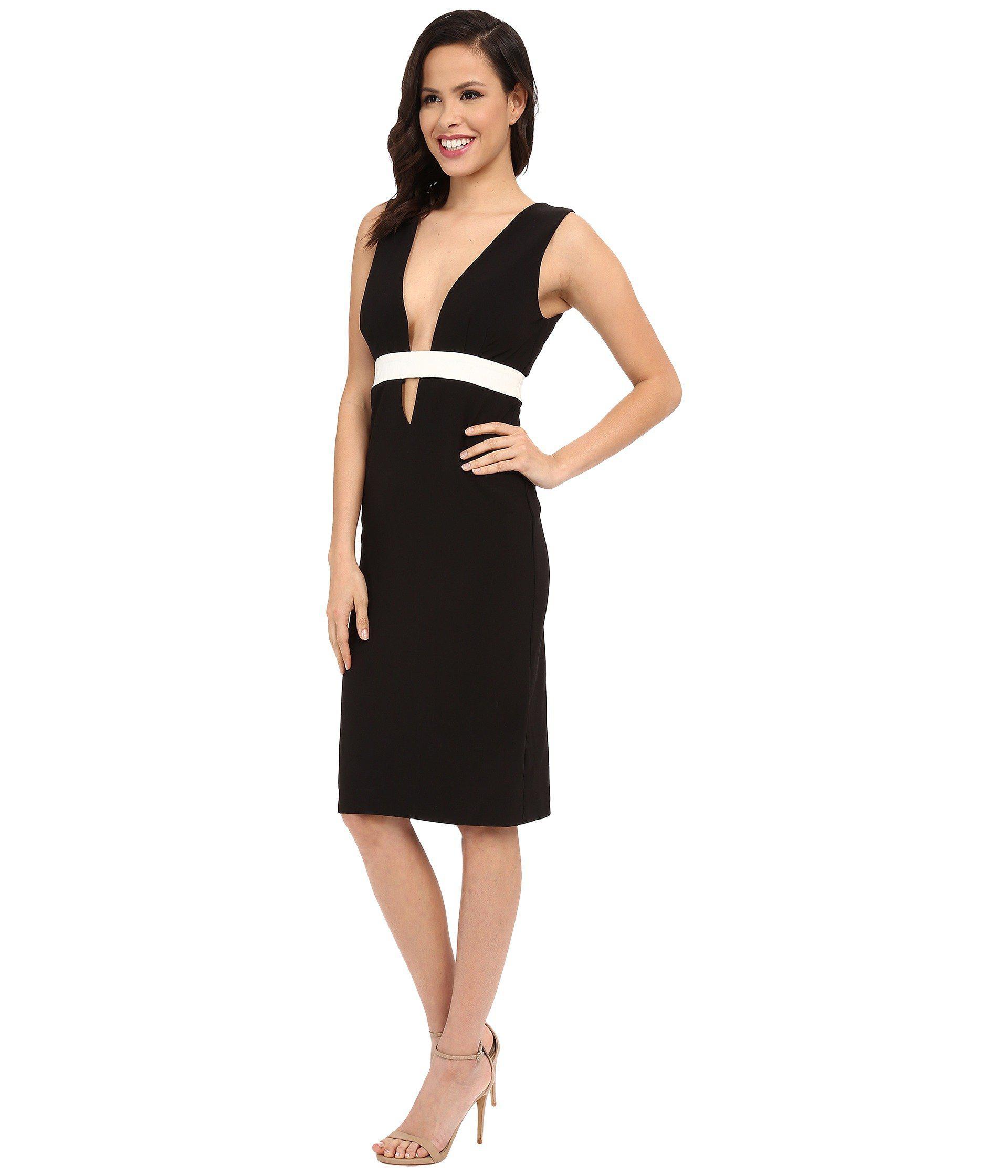 5f363275e5a Lyst - Nicole Miller Viola Color Black Cocktail Dress in Black - Save 42%