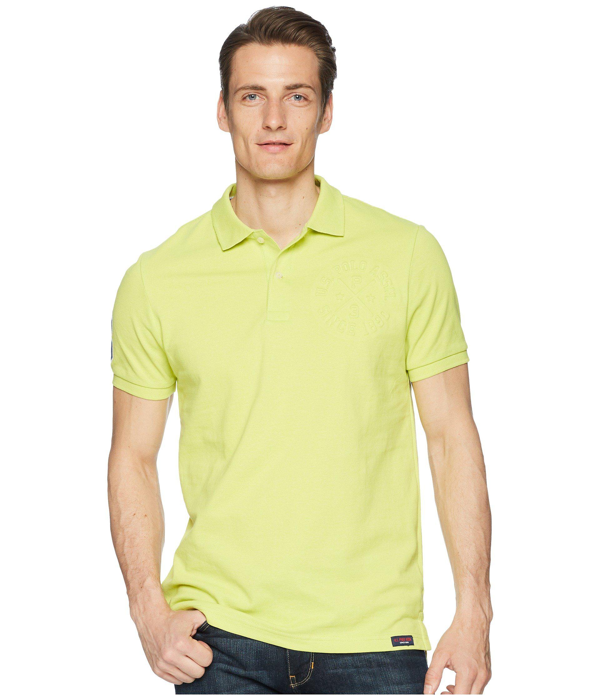 Lyst Us Polo Assn Short Sleeve Slim Fit Solid Pique Polo Shirt