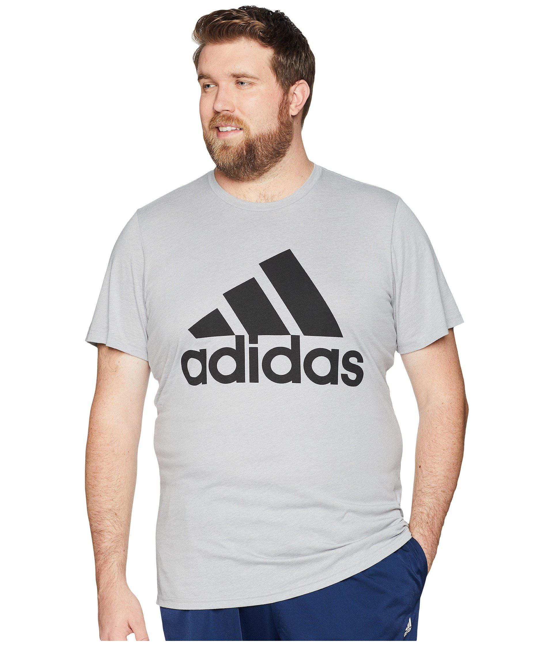 f9ec6aa90a Lyst - adidas Big & Tall Badge Of Sport Classic Tee in Gray for Men