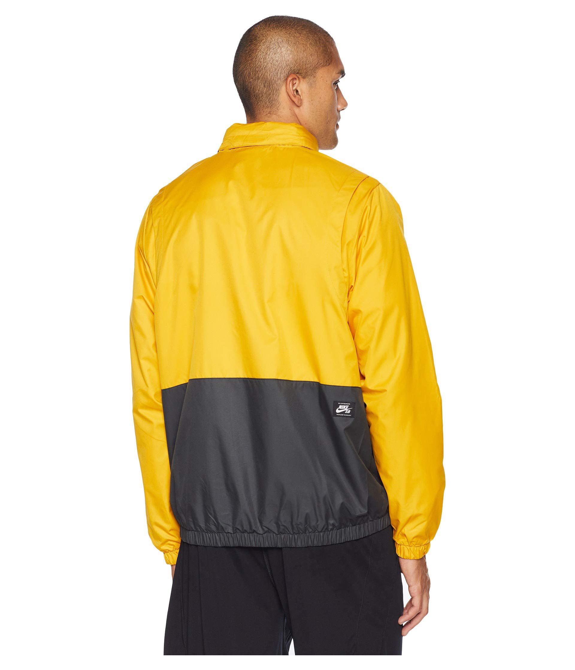 Nike - Yellow Sb Dry Hooded Stripe Jacket for Men - Lyst. View fullscreen be7f1bd80